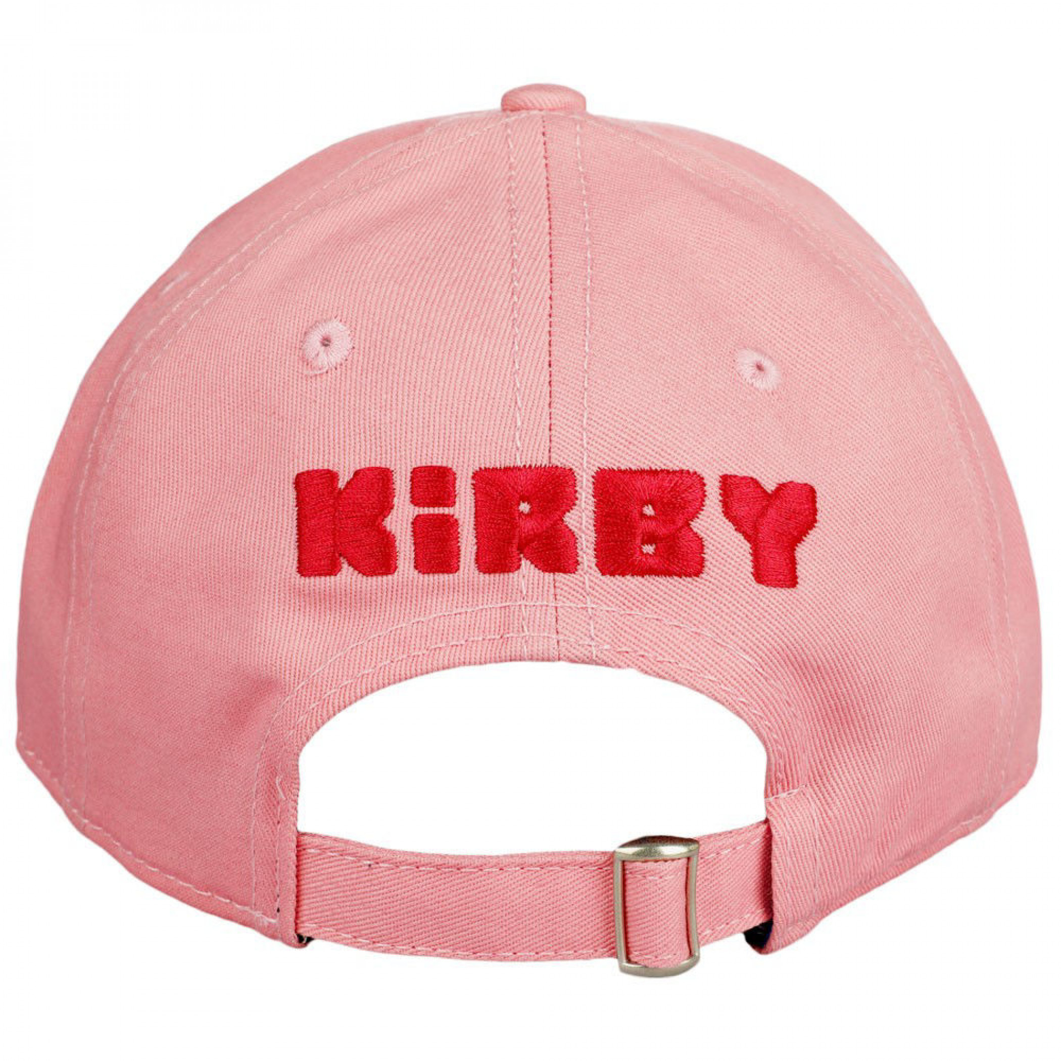 Kirby Big Face Embroidered Pre-Curved Snapback Hat