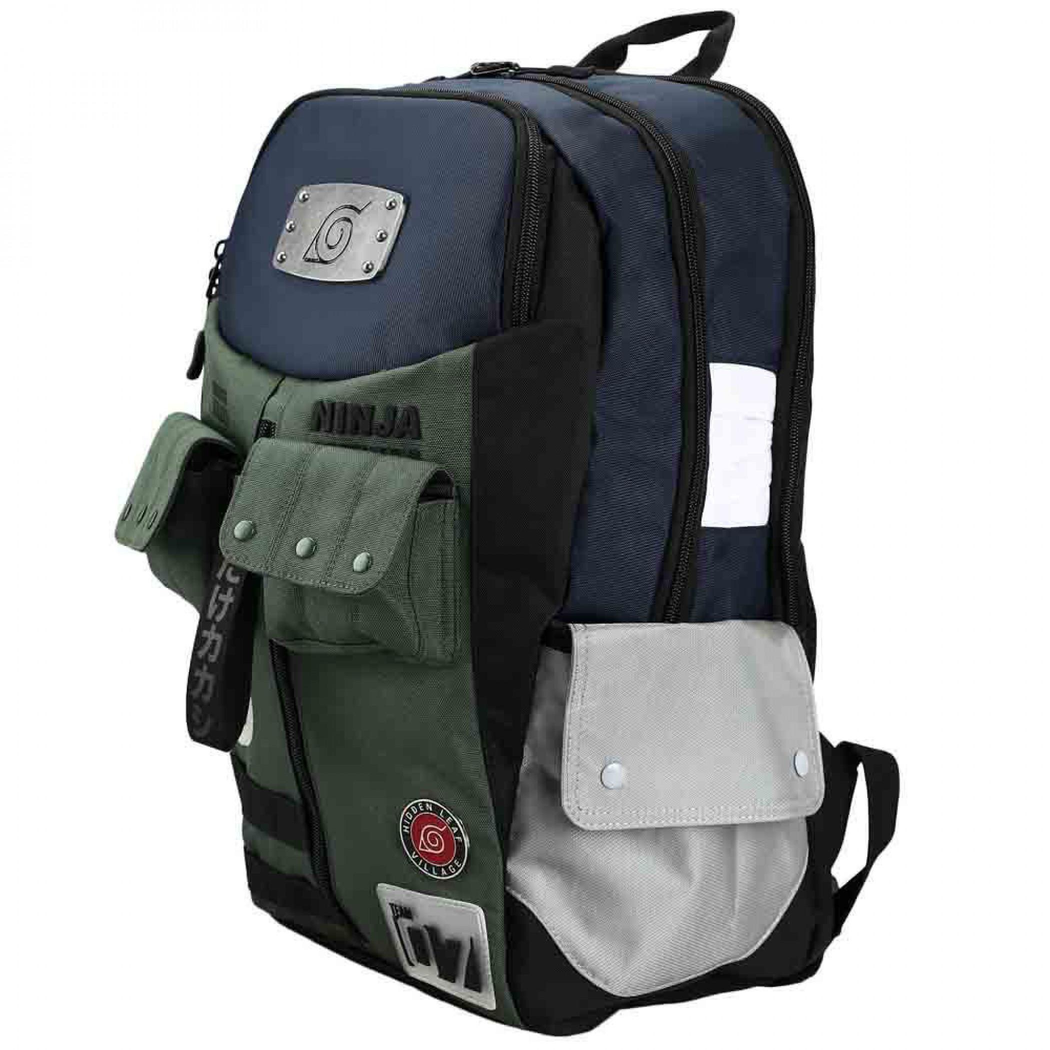 Naruto Hatake Kakashi Jonin Gear Inspired Laptop Backpack