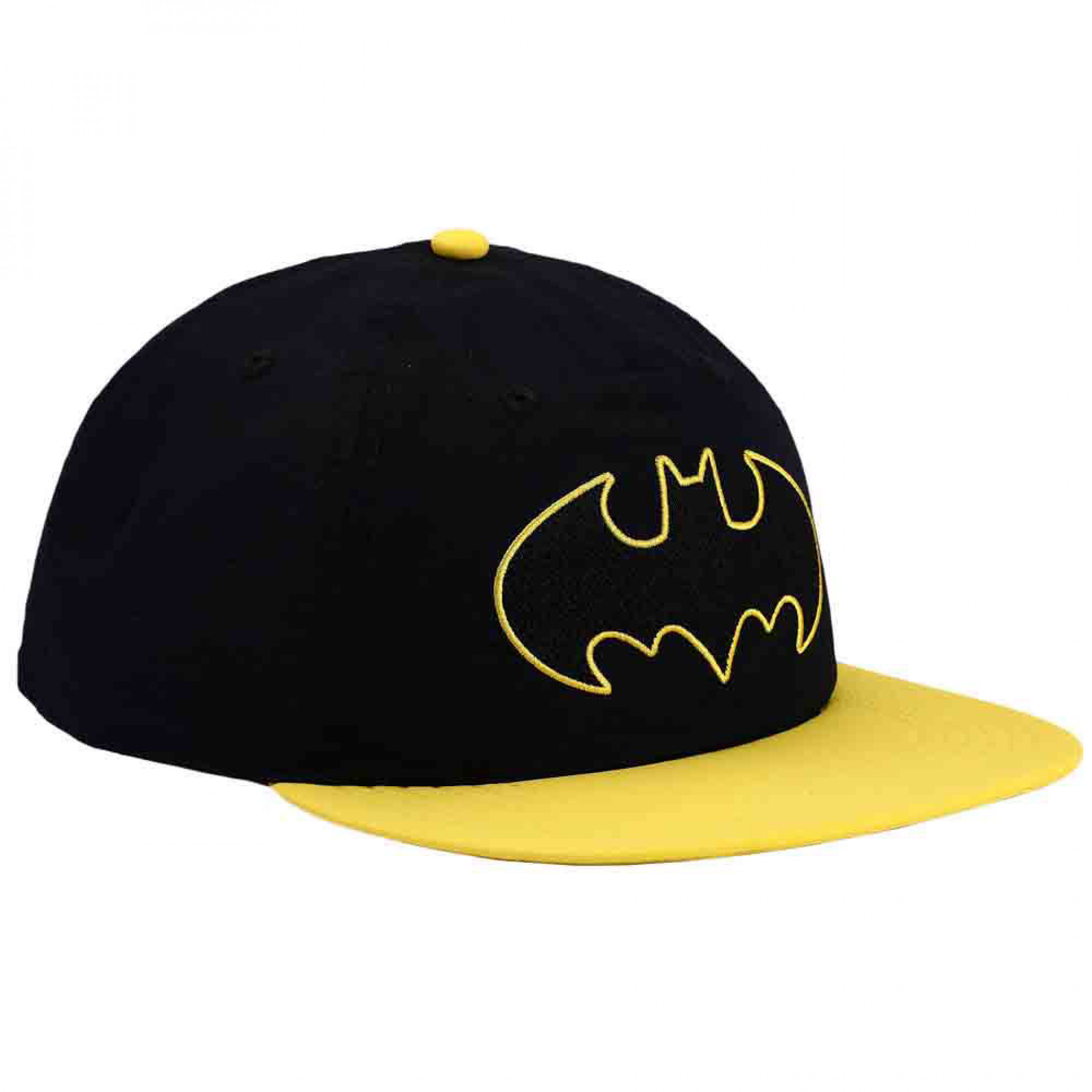 DC Comics Batman Classic Embroidered Logo Flat Bill Snapback Hat