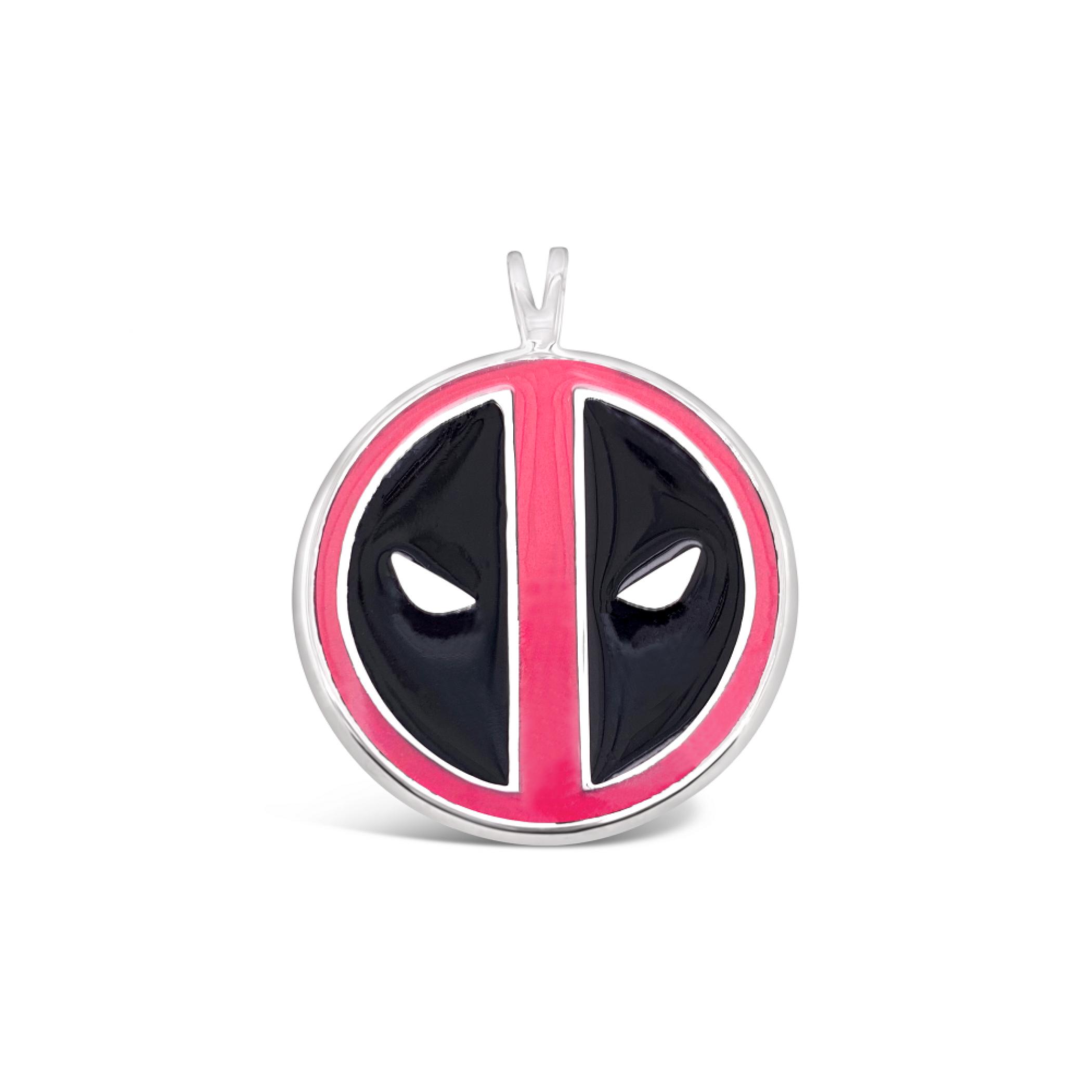 Deadpool Marvel Symbol Pendant- Pink