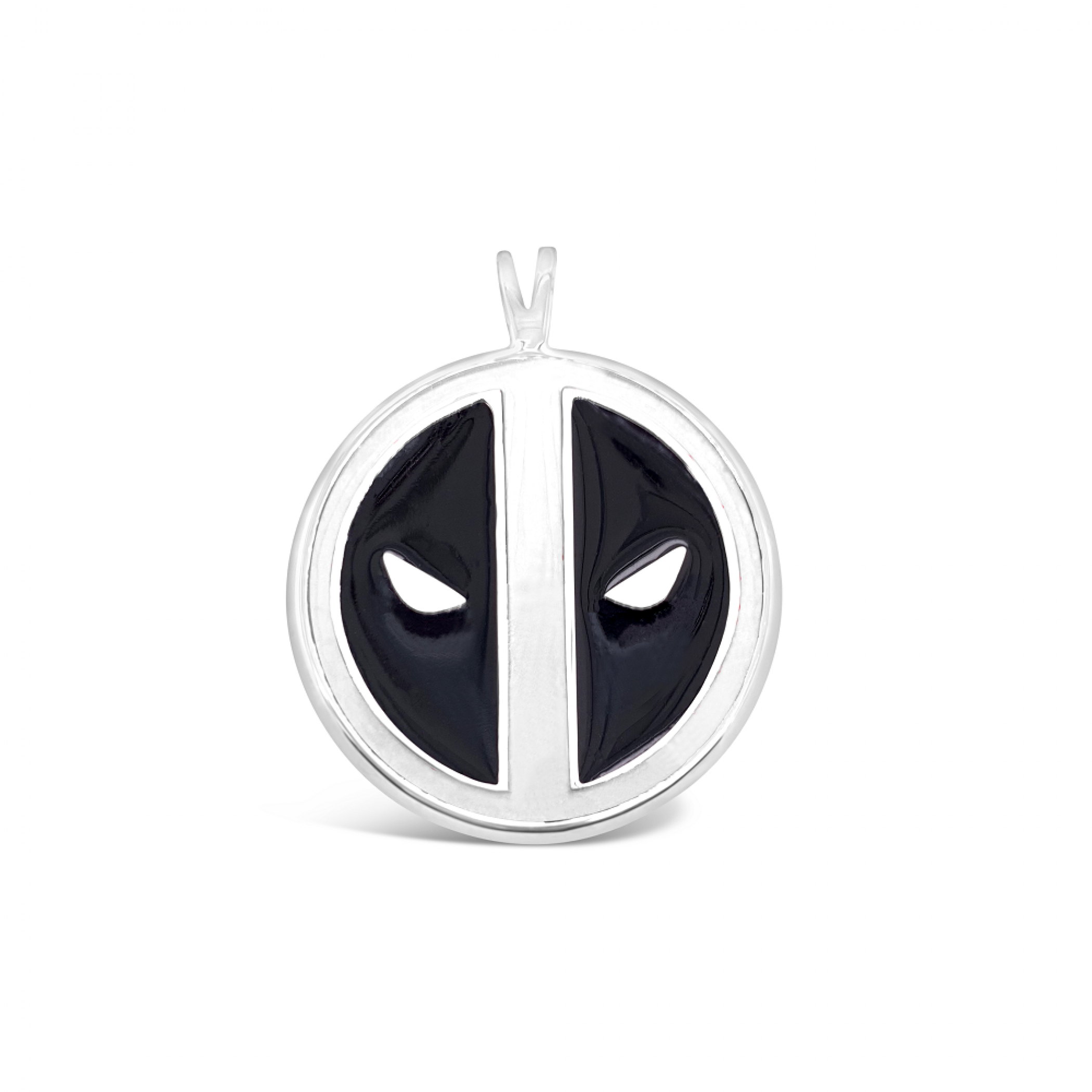 Deadpool Marvel Symbol Pendant- White