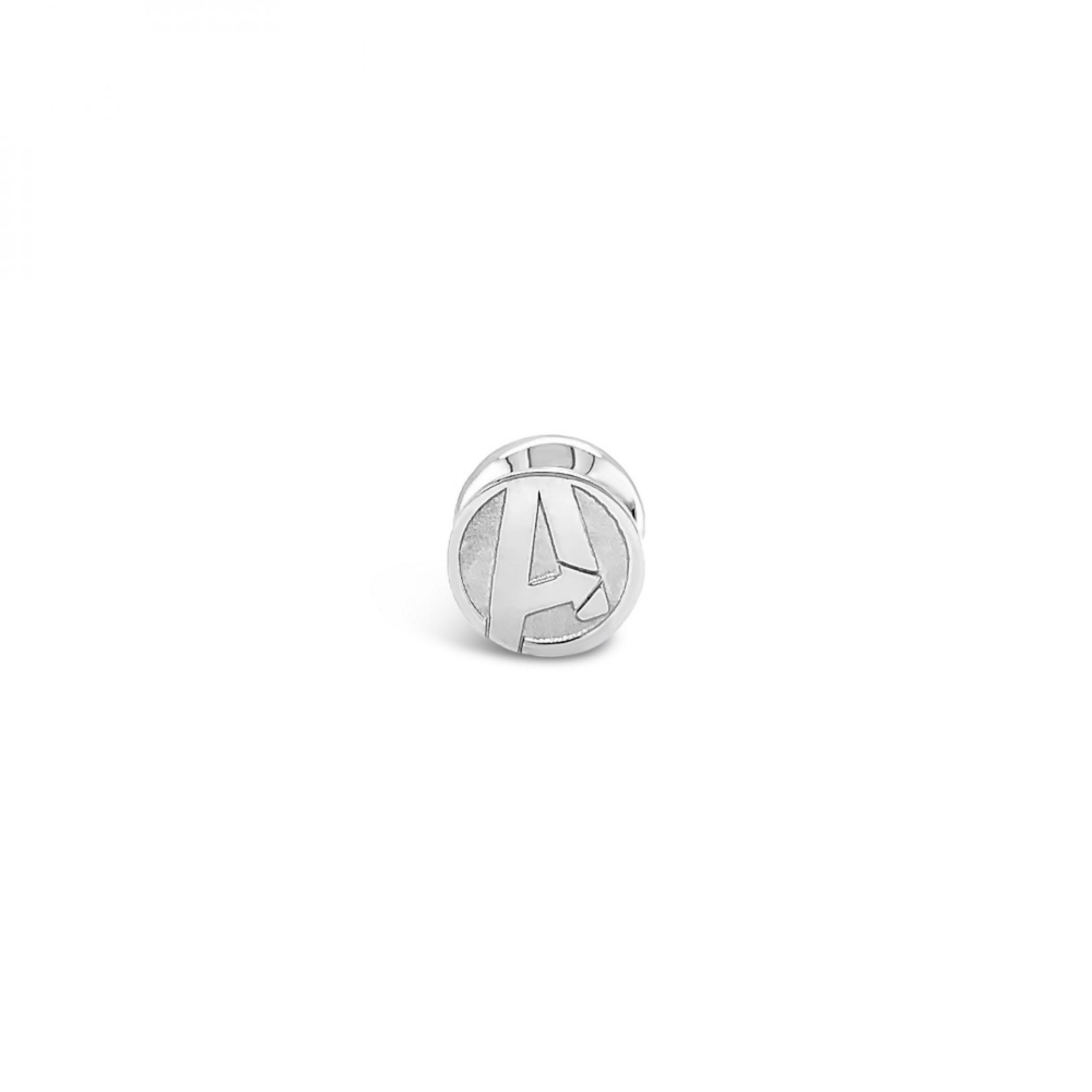 Avengers Marvel Logo Sterling Silver Bead