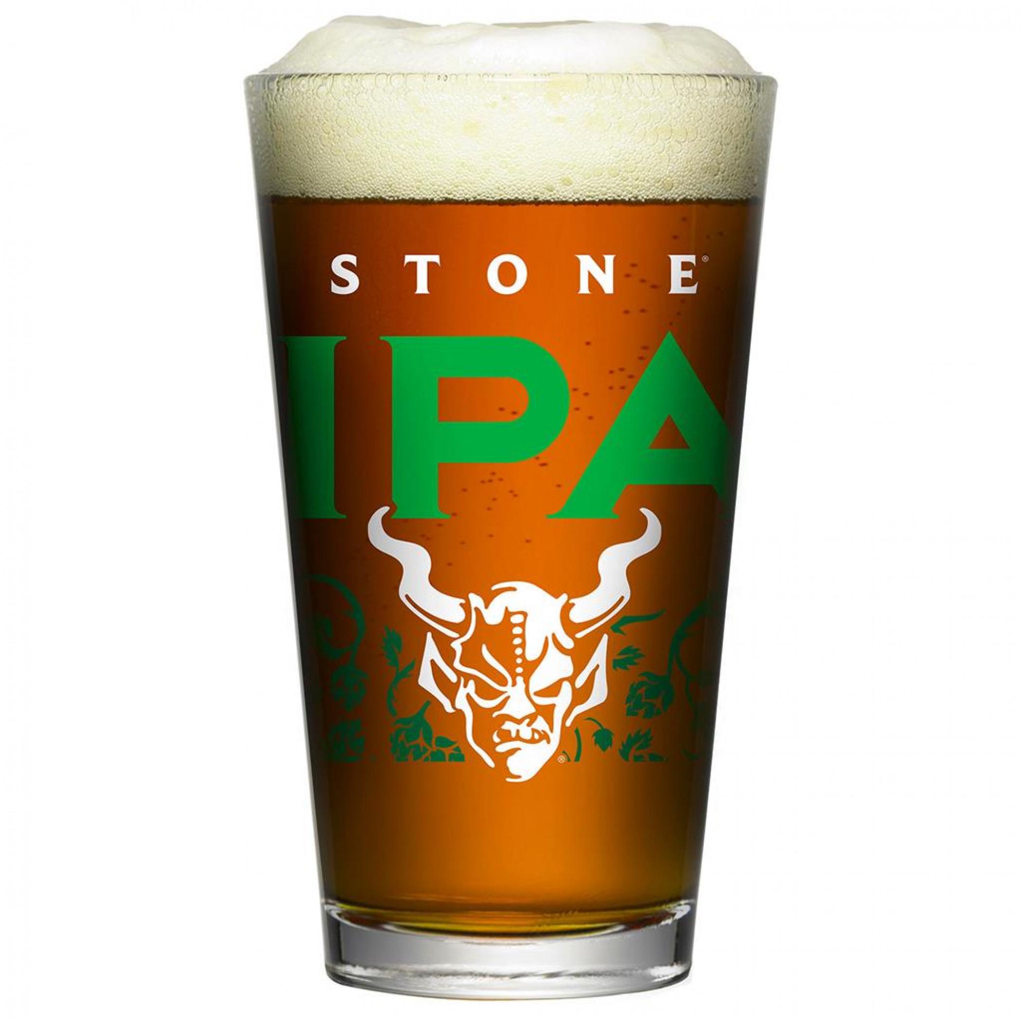 Stone Brewing IPA Pint Glass