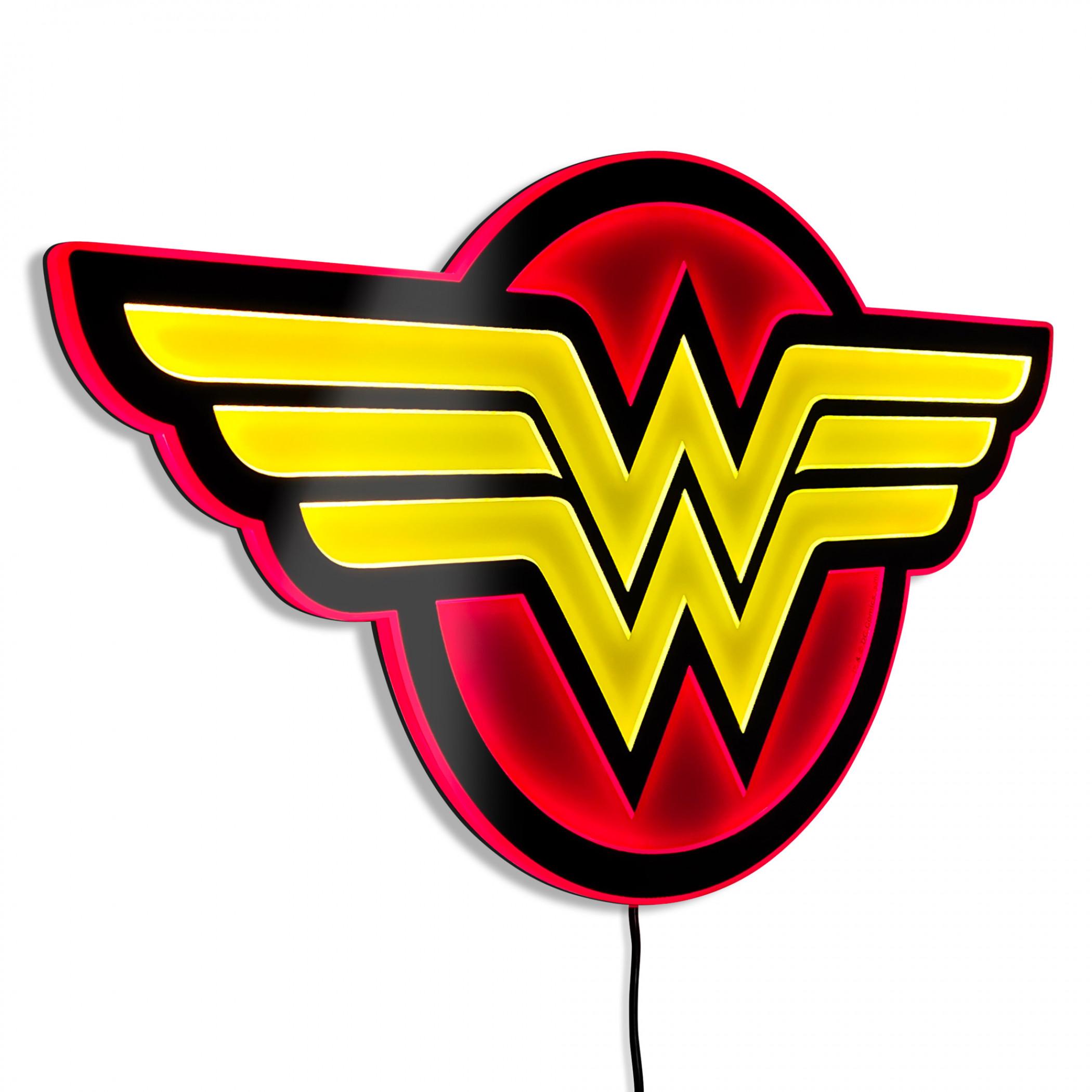 Wonder Woman Symbol Illuminated Wall Art