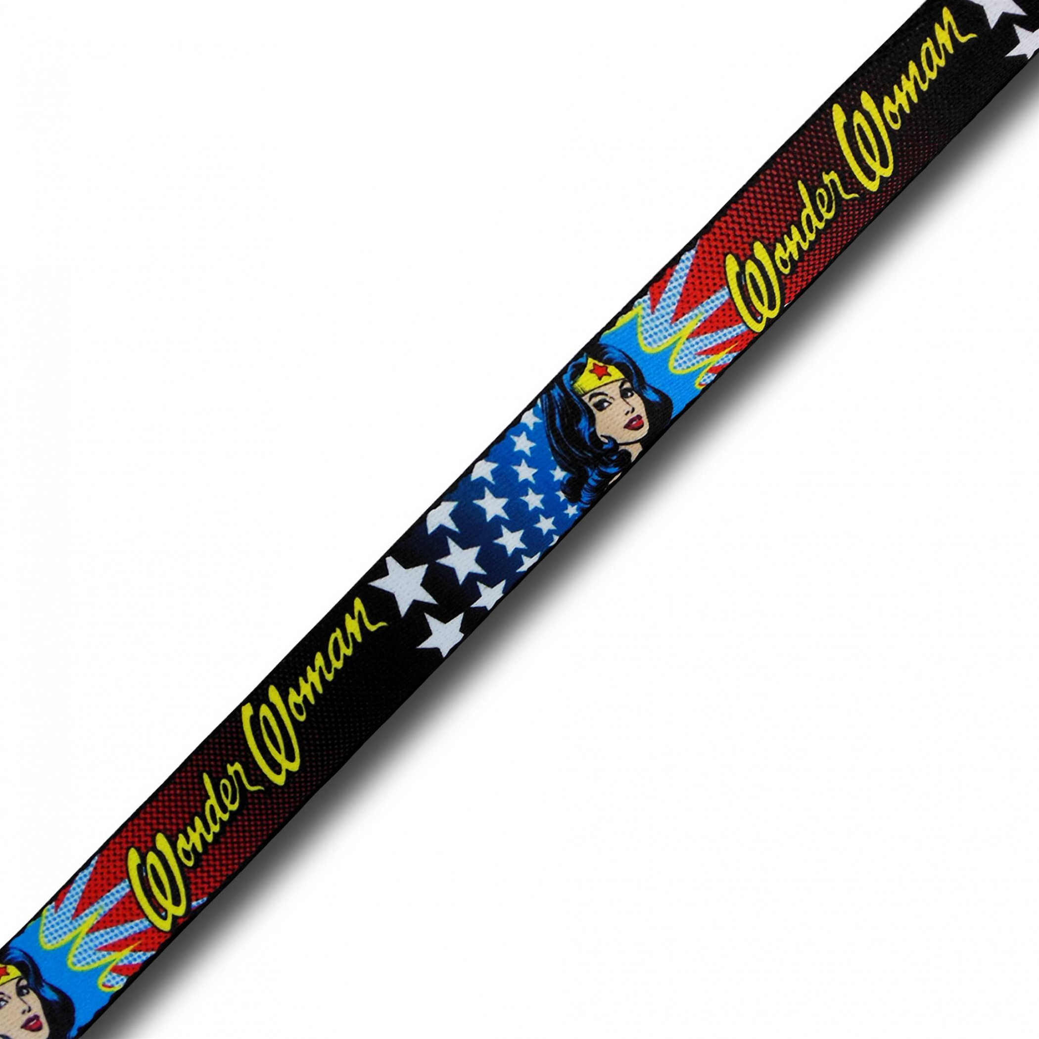 Wonder Woman Shoulder Glance and Stars Kids Web Belt