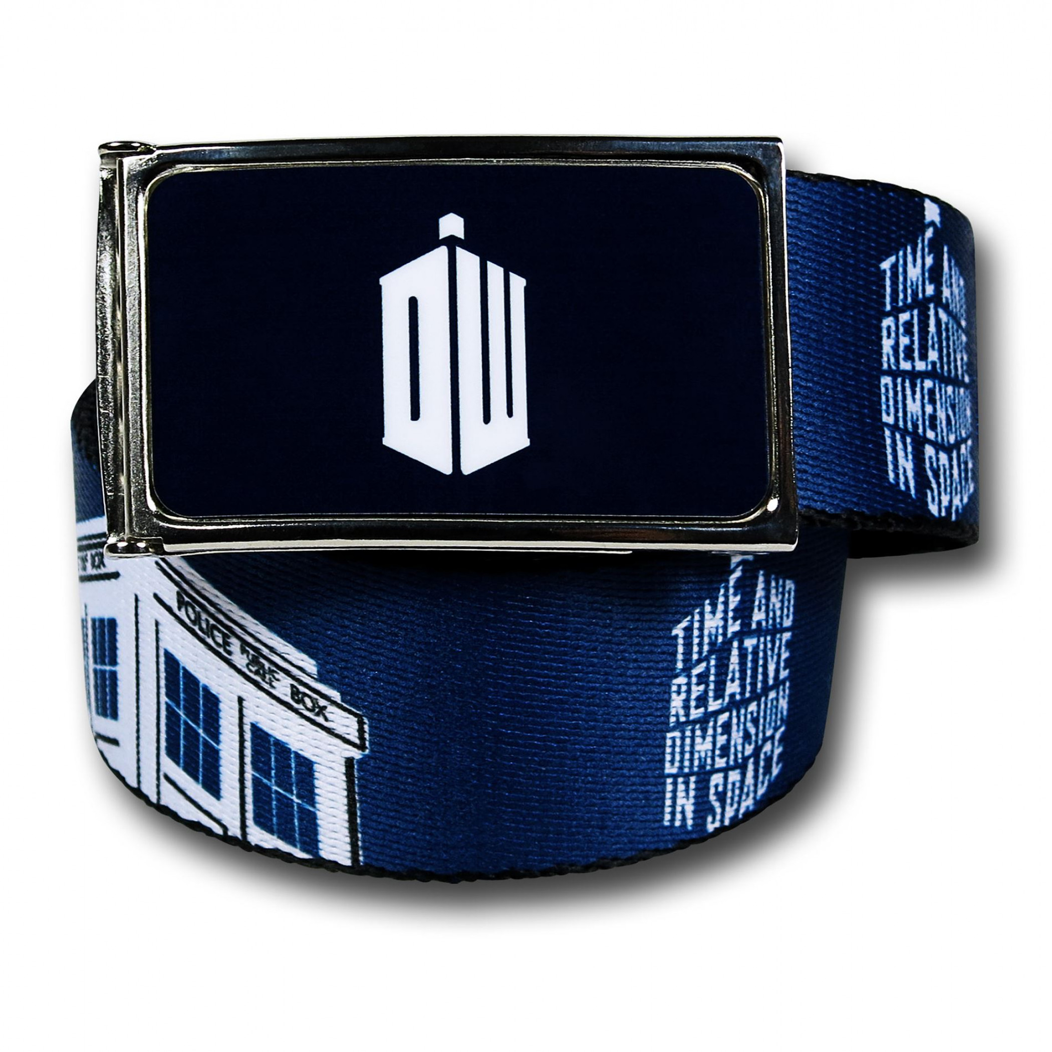 Doctor Who Tardis Spelled-Out Web Belt