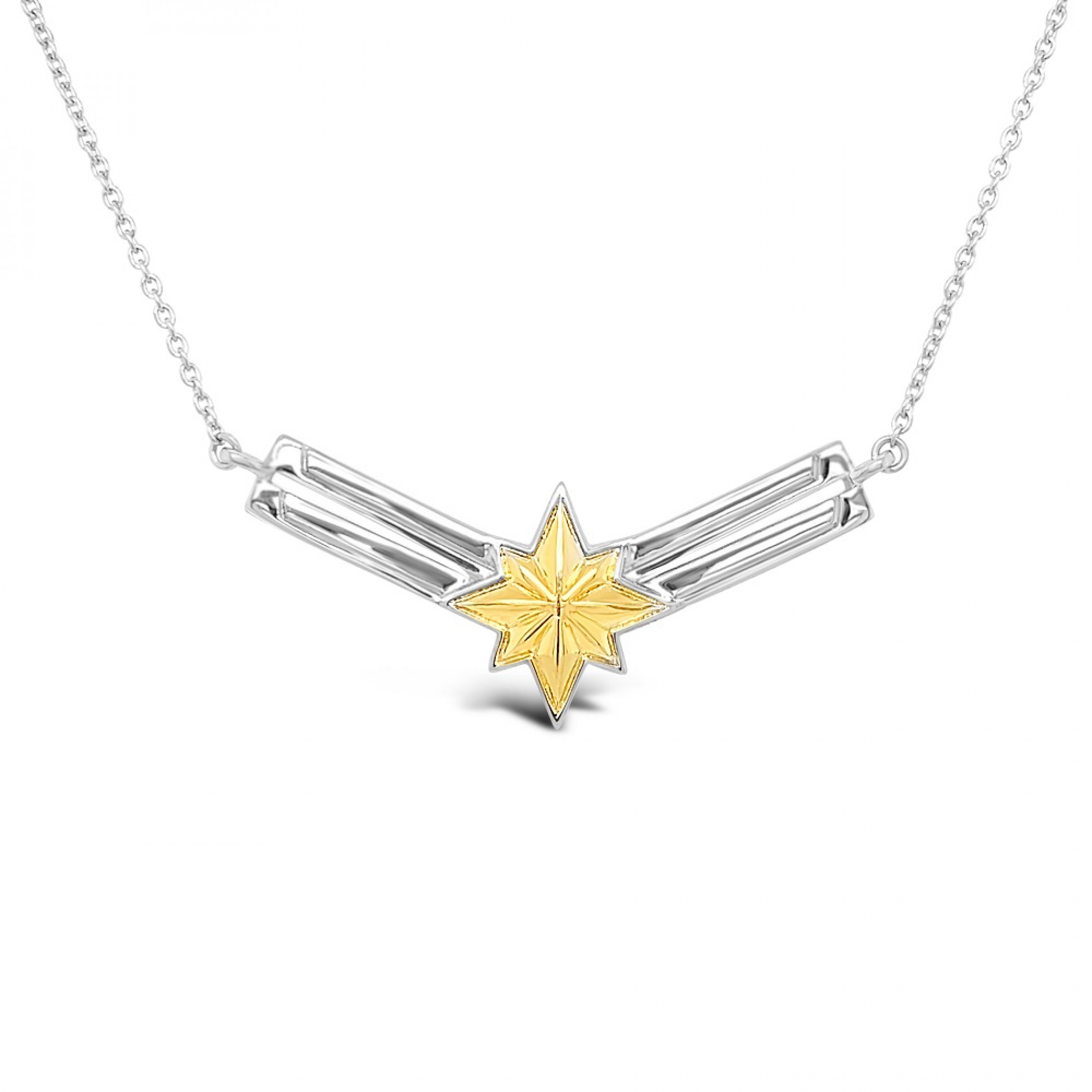 Captain Marvel Two-Toned Necklace