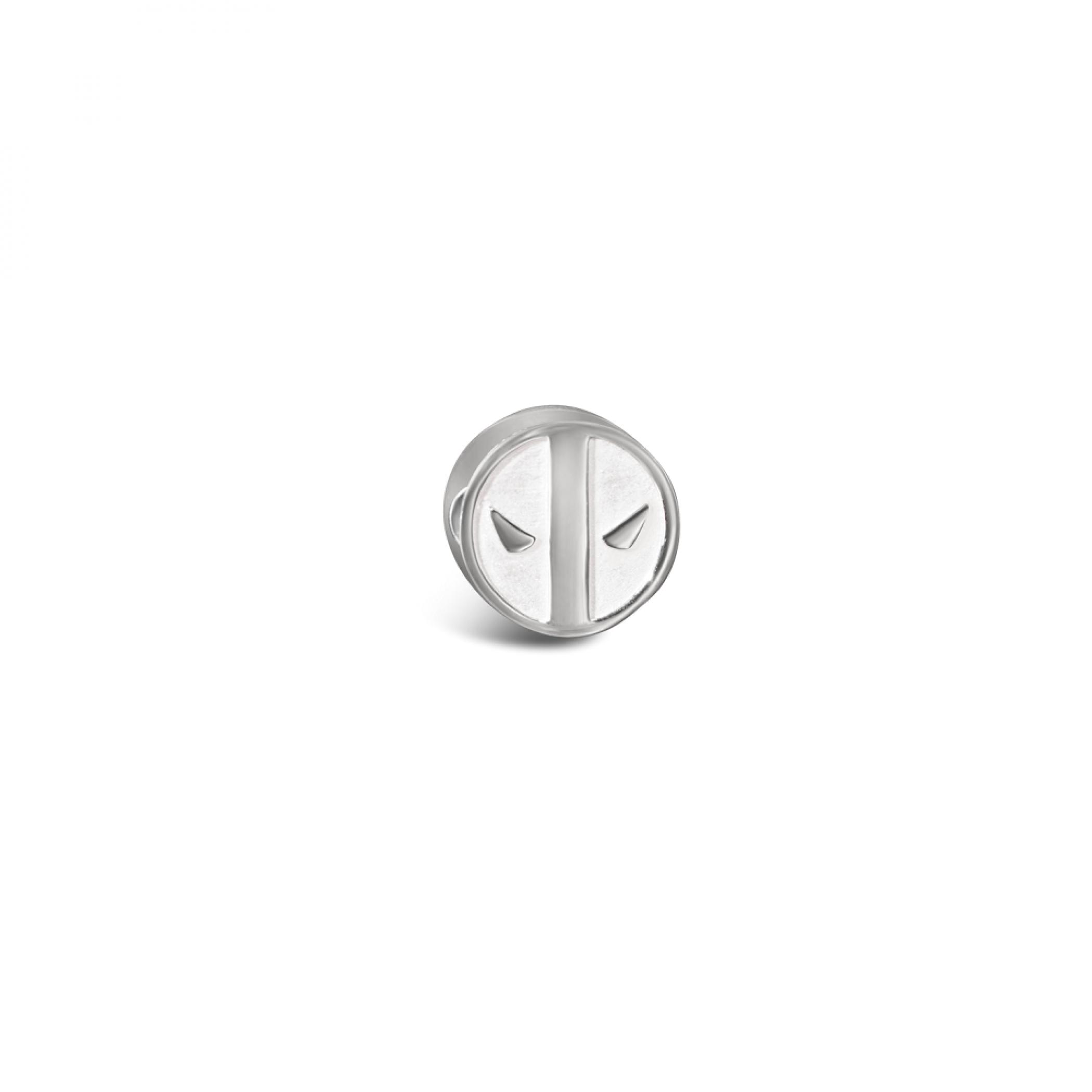 Deadpool Marvel Symbol Sterling Silver Bead