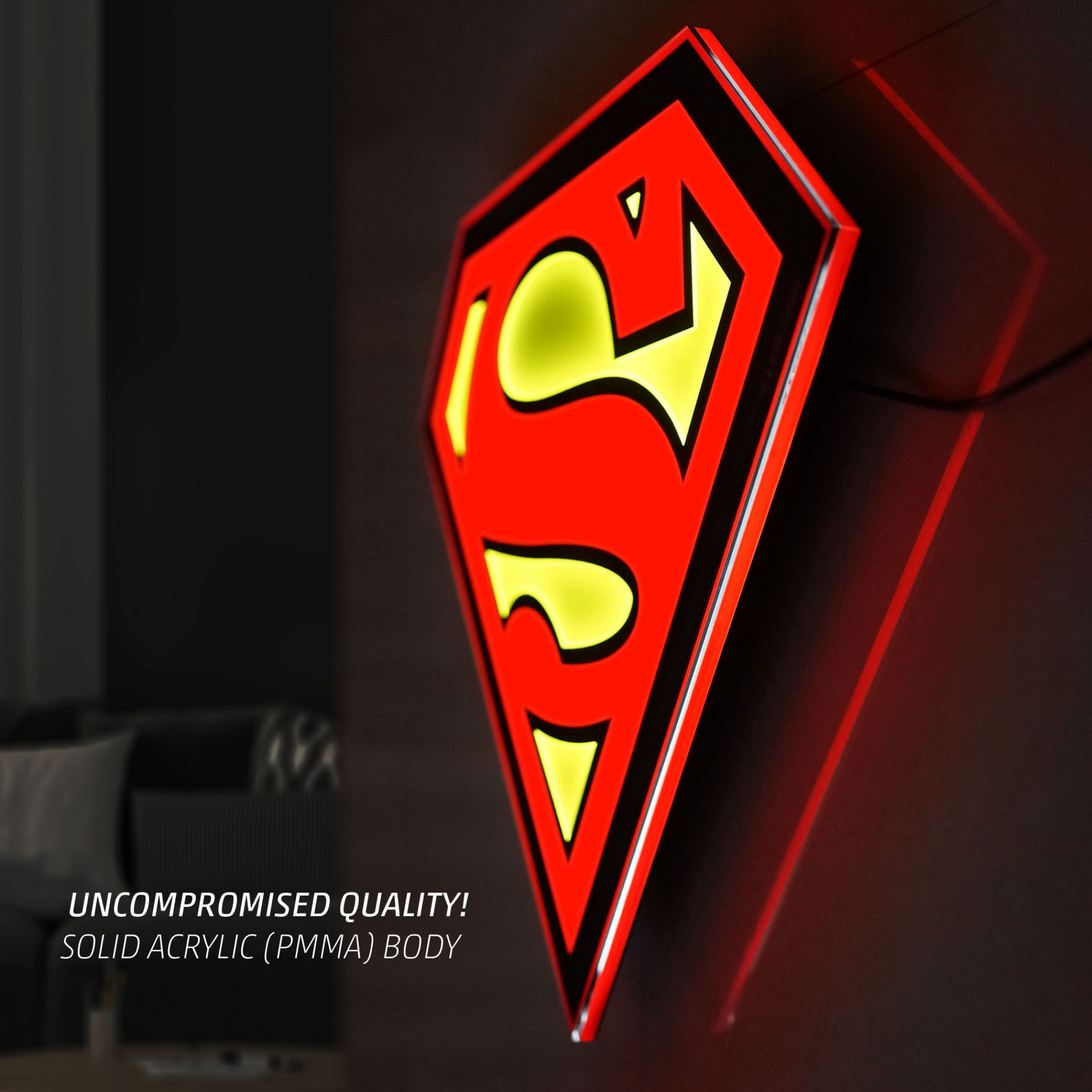 Superman Symbol Illuminated Wall Art