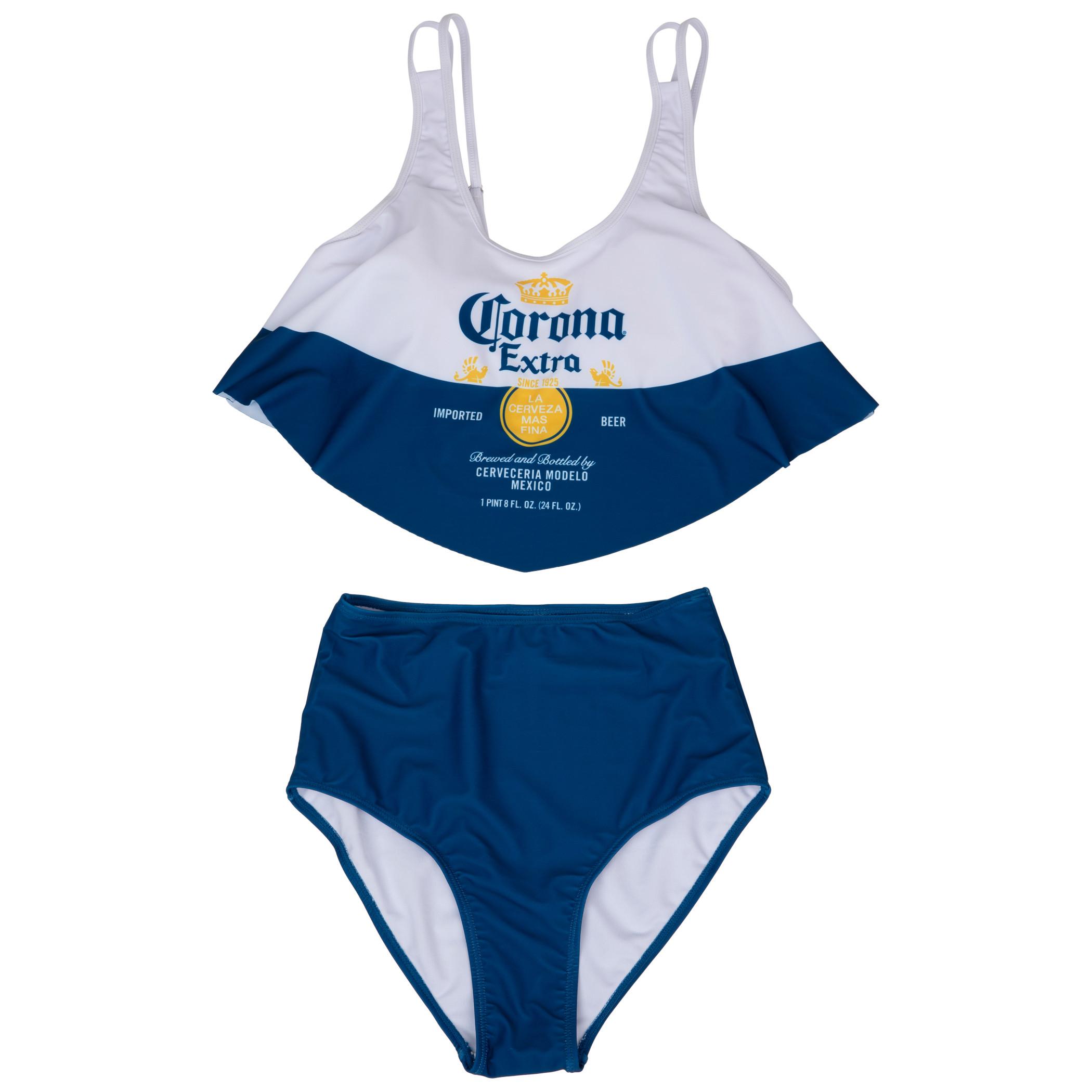 Corona Extra Label 2-Piece Ruffled Swimsuit