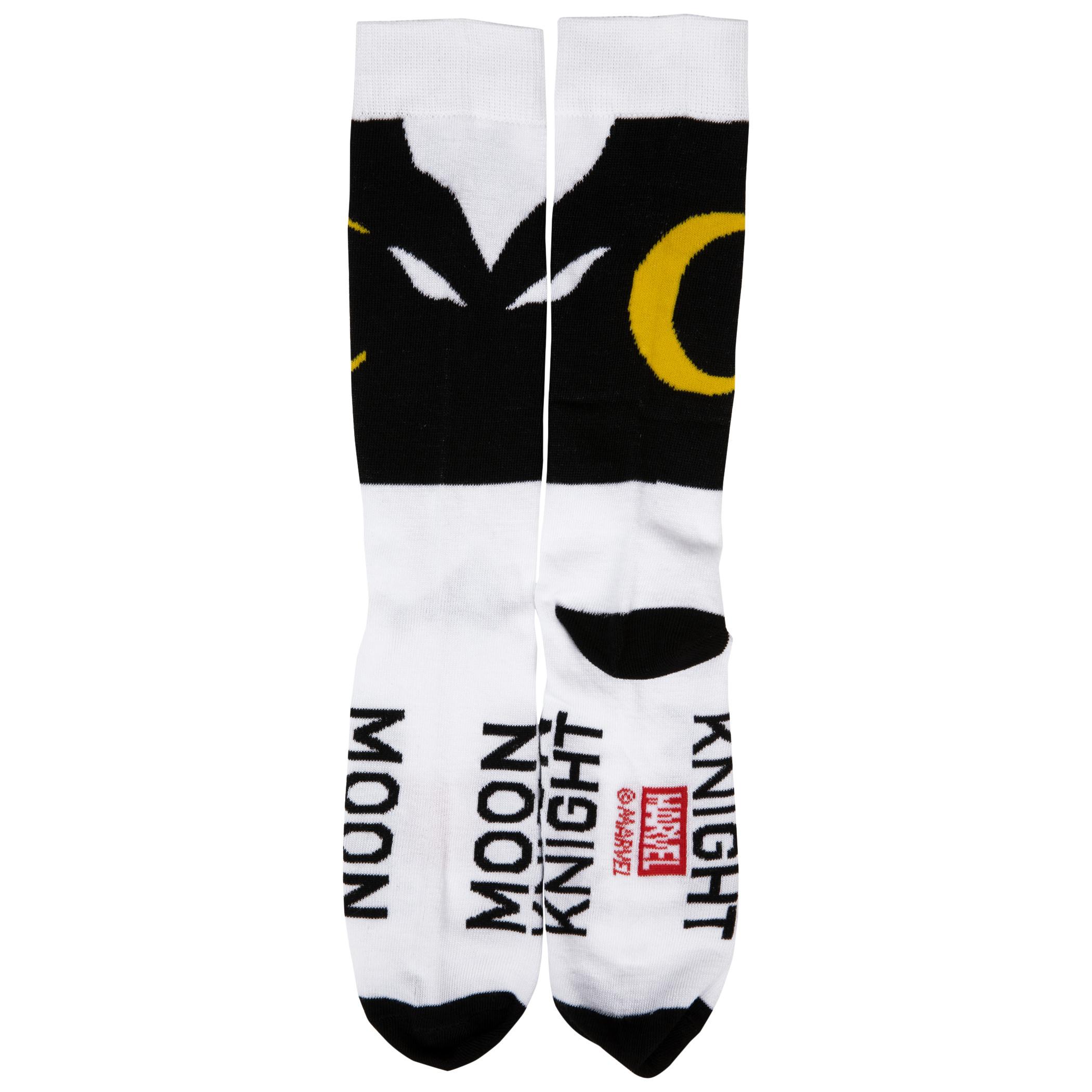 Moon Knight Costume Symbol Crew Socks