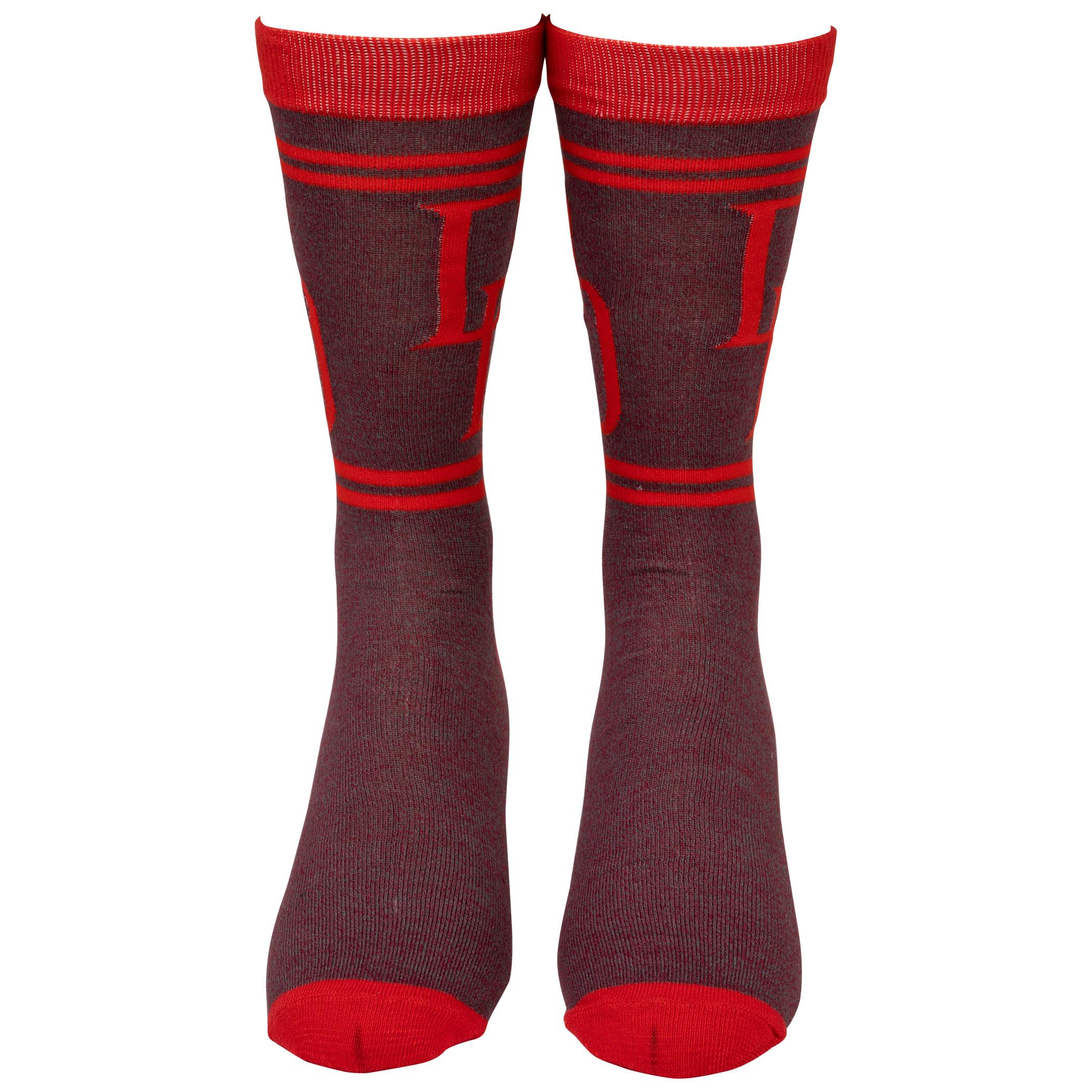 Marvel Daredevil Double D Symbol Crew Socks