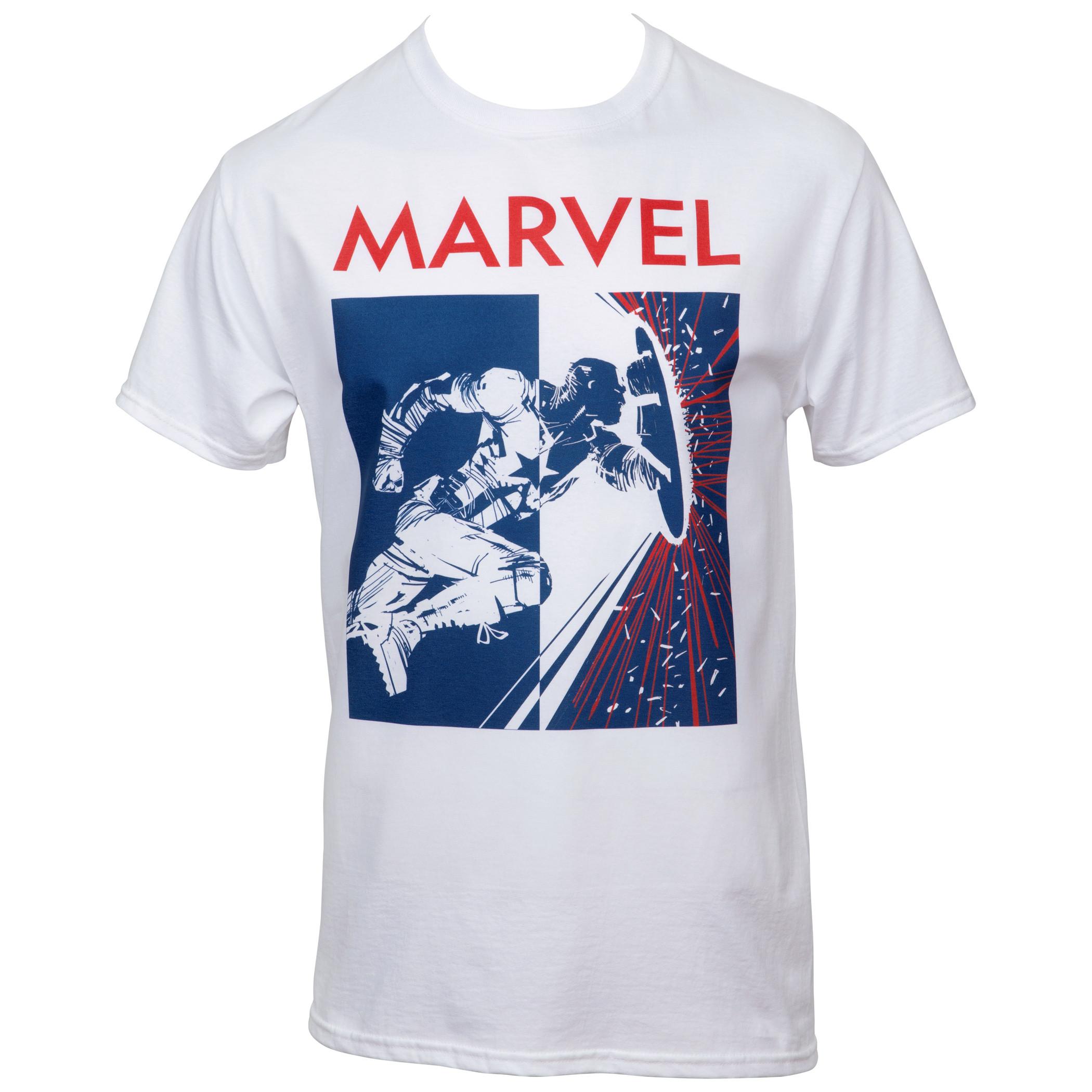 Marvel Captain America Breaking Through T-Shirt