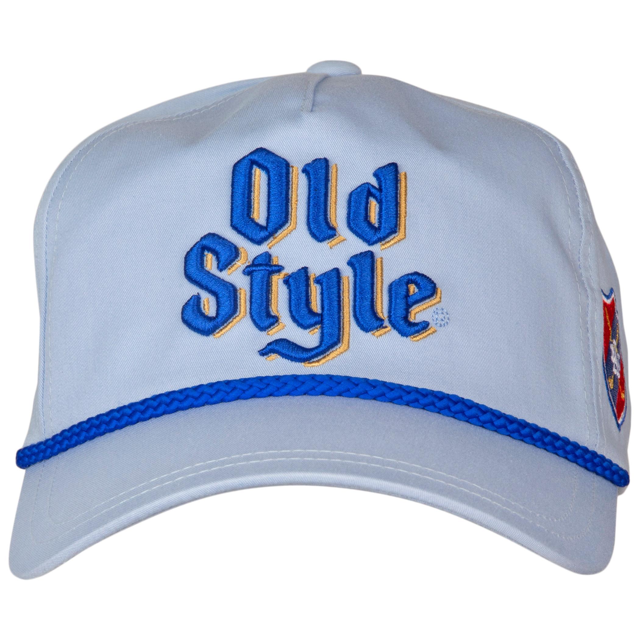 Old Style Roped Brim Adjustable Snapback Hat