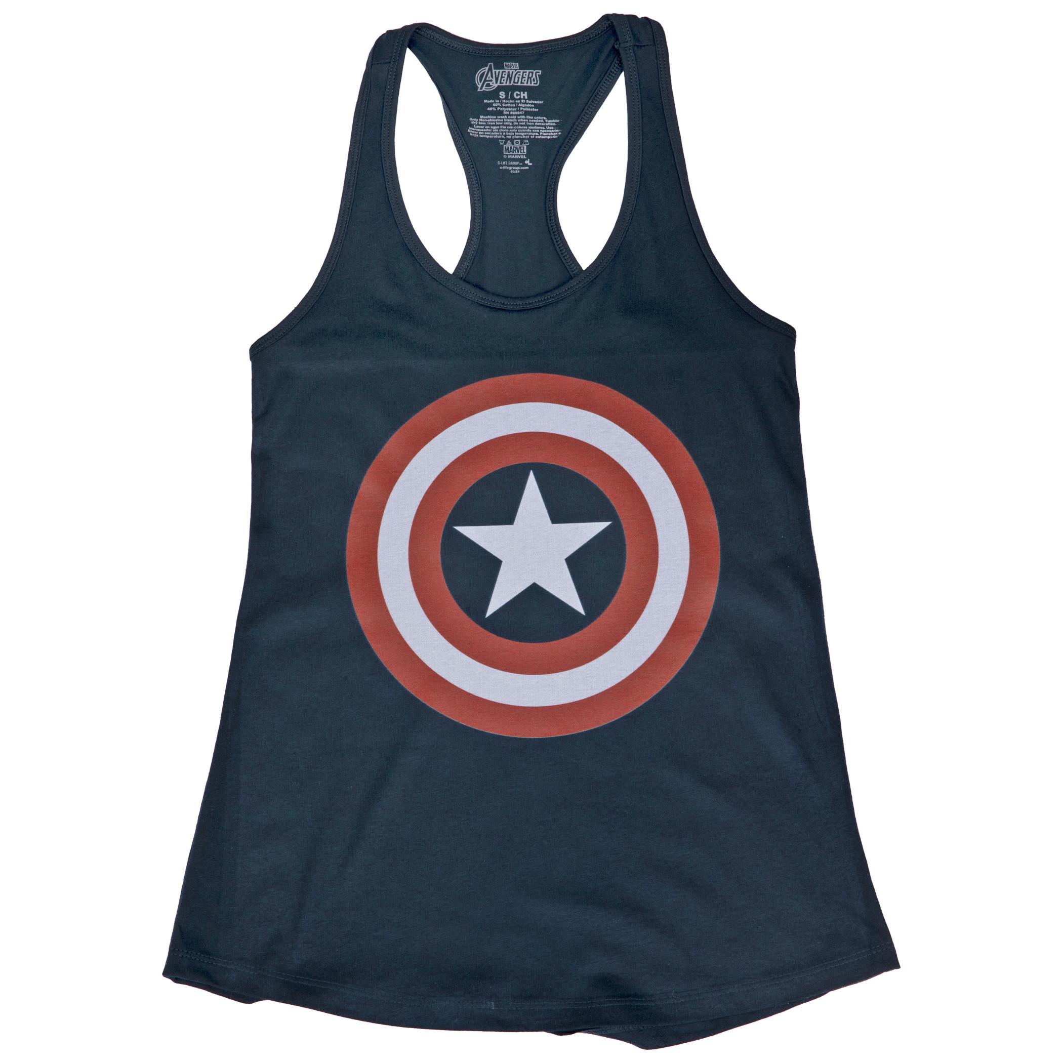 Captain America Shield Logo Women's Racerback Tank Top