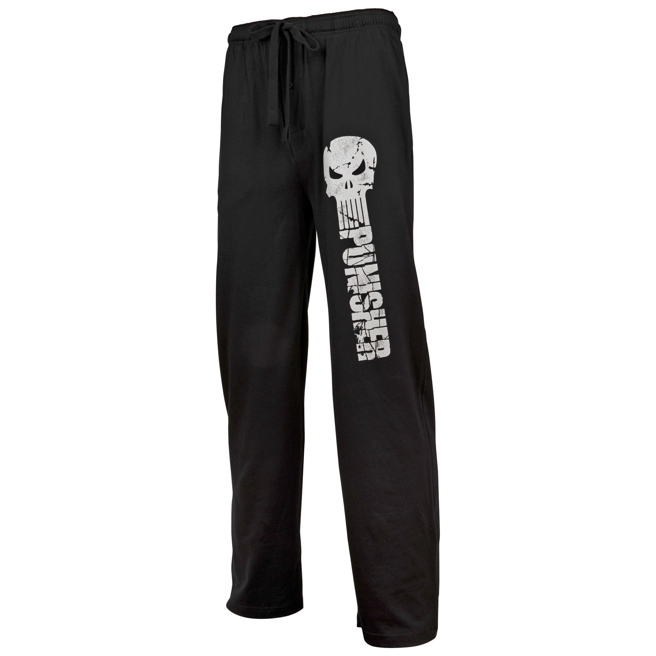 Marvel's Punisher Skull and Text Unisex Sleep Pants