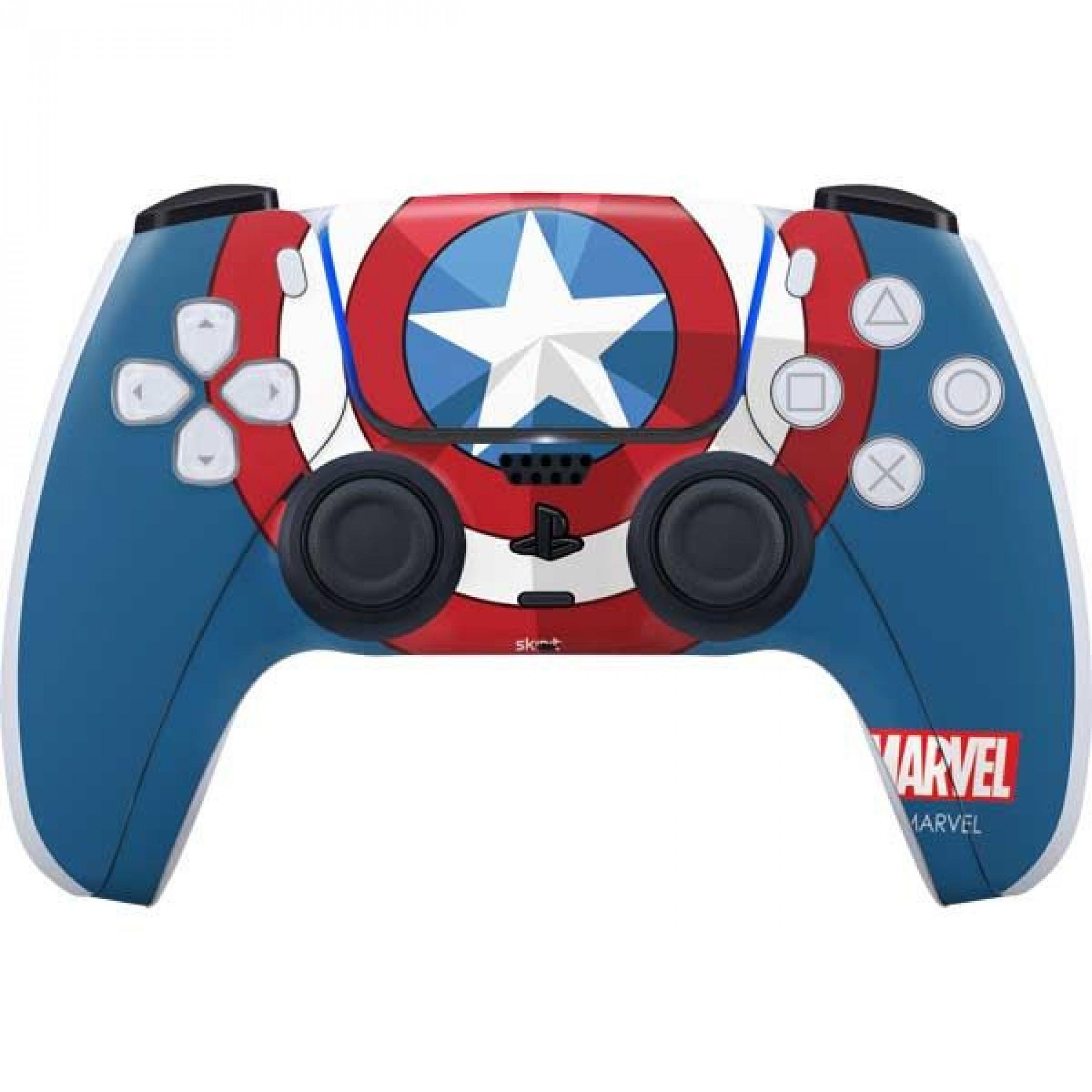 Captain America Shield Emblem PS5 Controller Skin