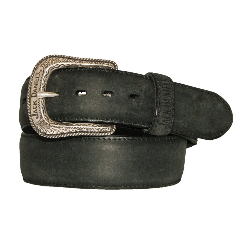 Jack Daniels Silver Plated Buckle Belt