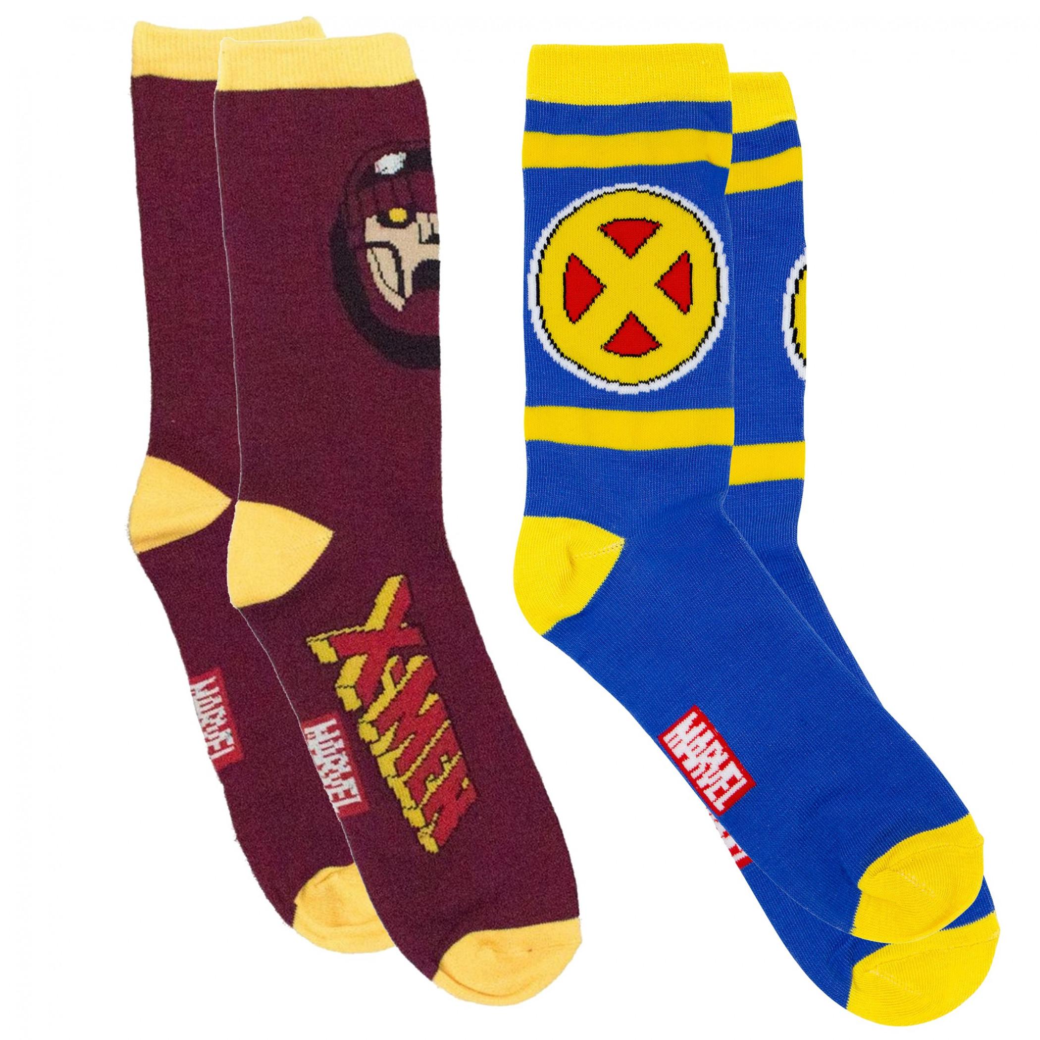 X-Men 90's Series Symbol and Sentinel Crew Socks 2-Pair Pack
