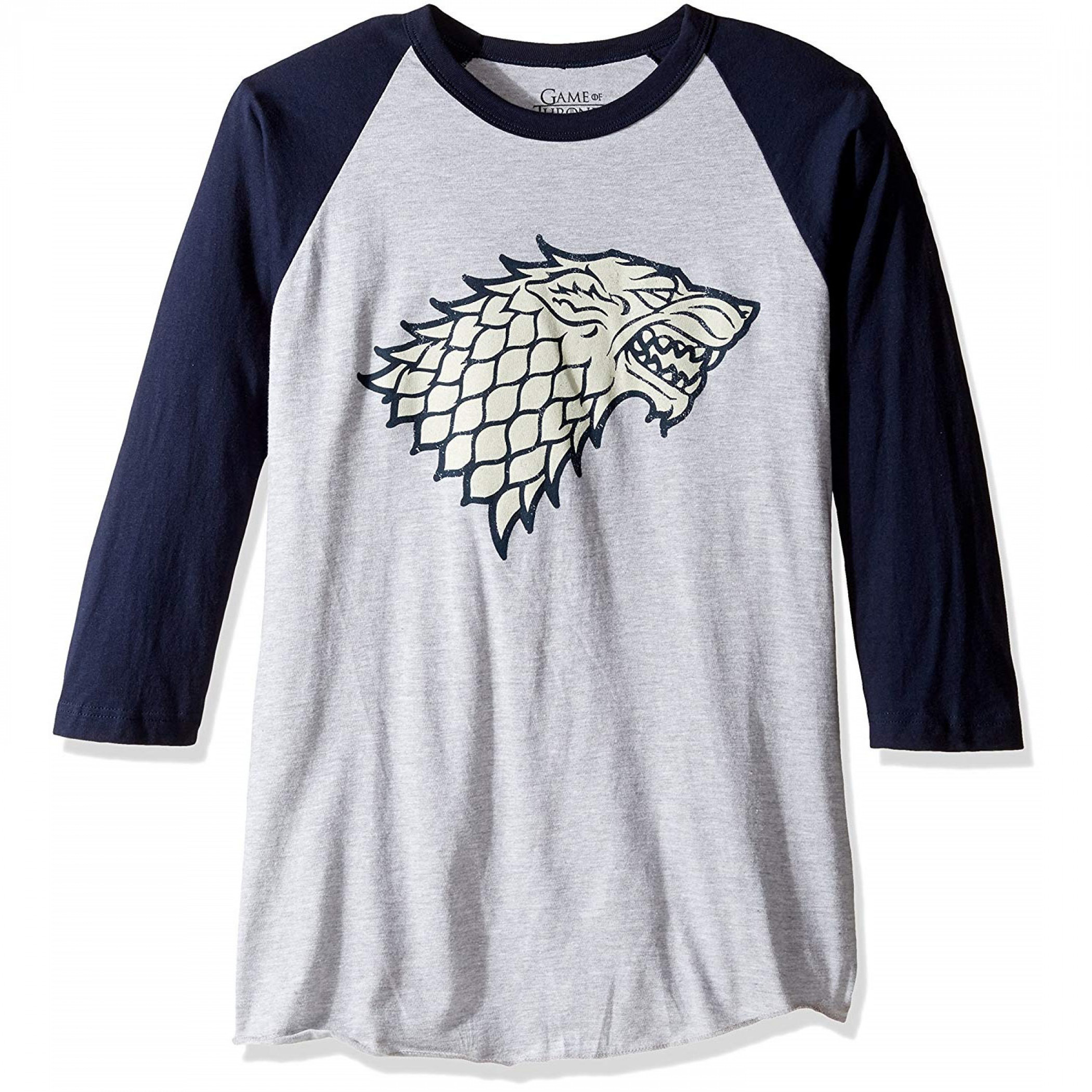 Game of Thrones Stark Sigil Baseball T-Shirt