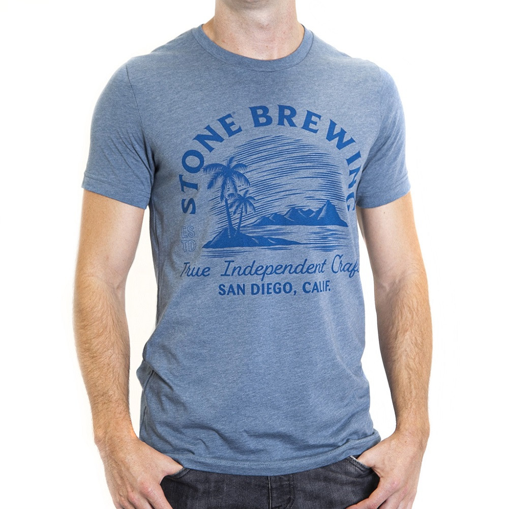 Stone Brewing Oasis Men's Blue Tee Shirt