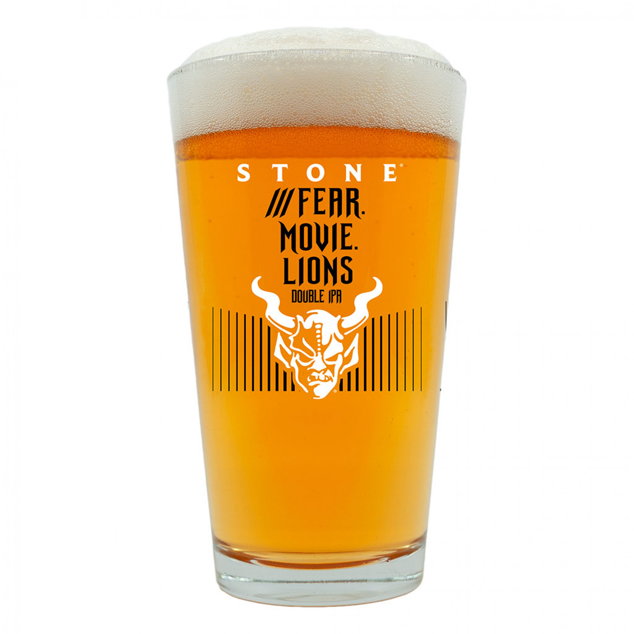 Stone Brewery Fear. Movie. Lions Double IPA Pint Glass