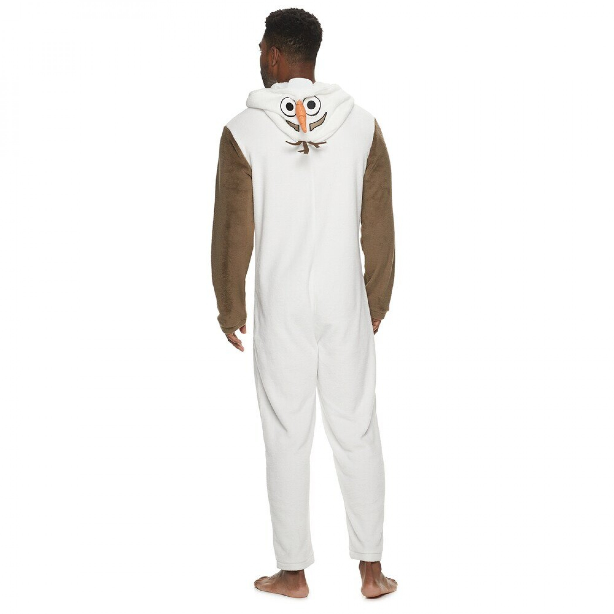 Frozen's Olaf Costume White Plush Union Suit