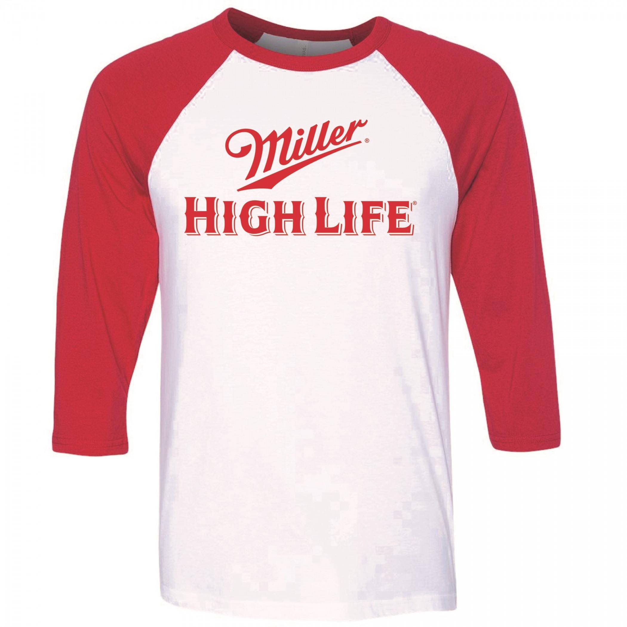 Miller High Life Classic Logo Raglan Baseball Shirt