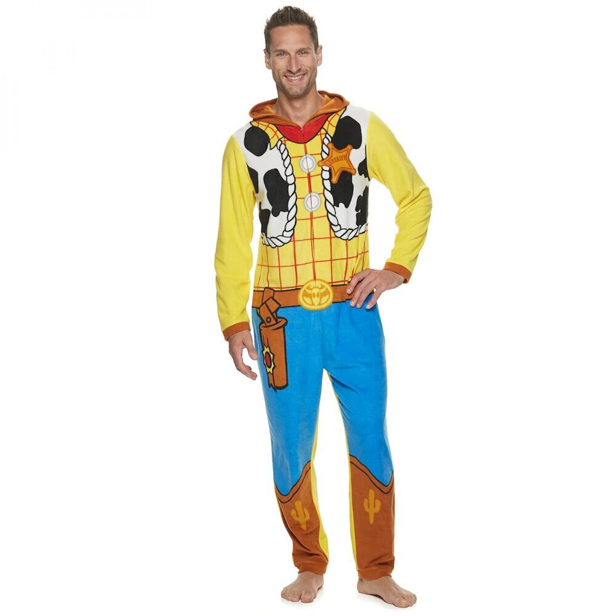 Toy Story's Woody Hooded Costume Micro Fleece Union Suit