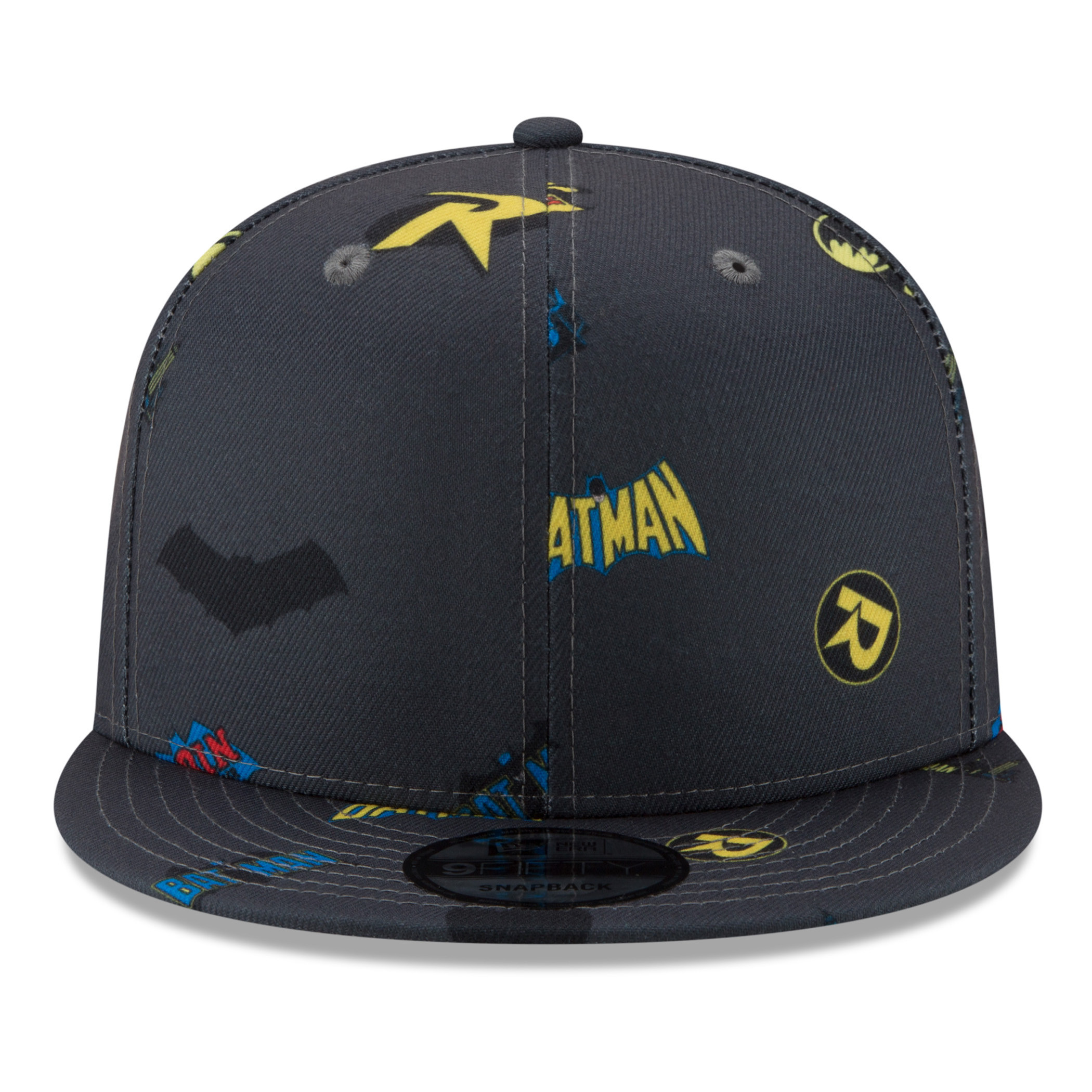 Batman and Robin Power Couple Scatter New Era 9Fifty Adjustable Hat