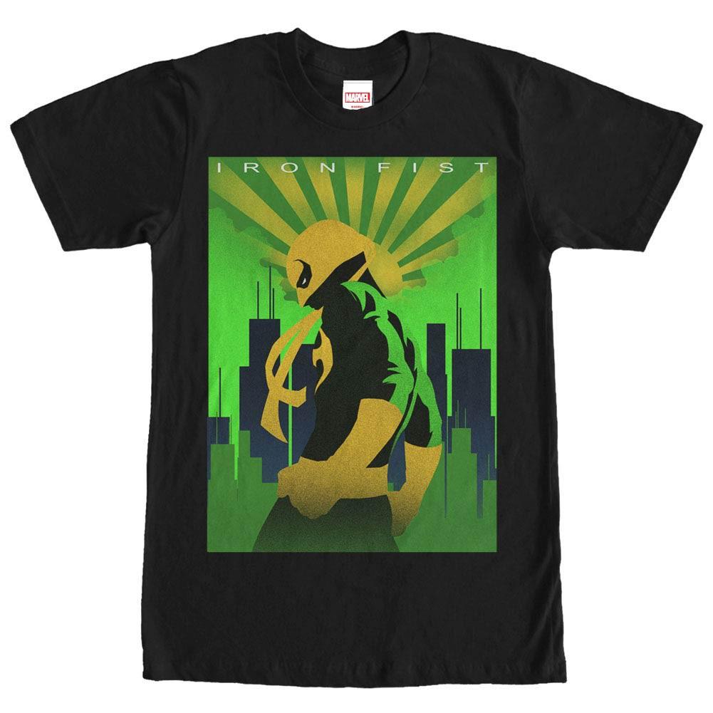 Marvel Teams Iron Fist Black Mens T-Shirt