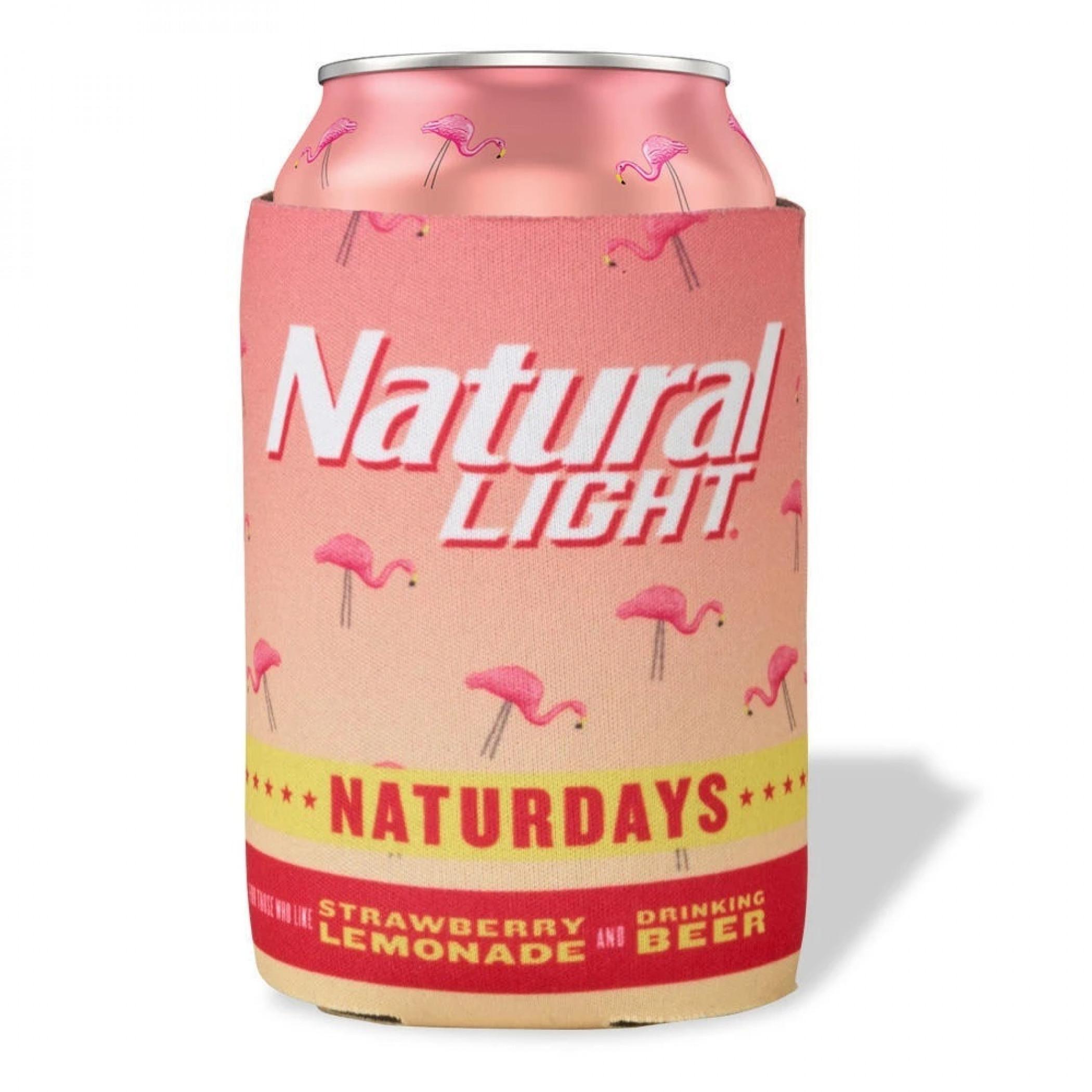 Natural Light Naturdays Pink Flamingo Can Cooler