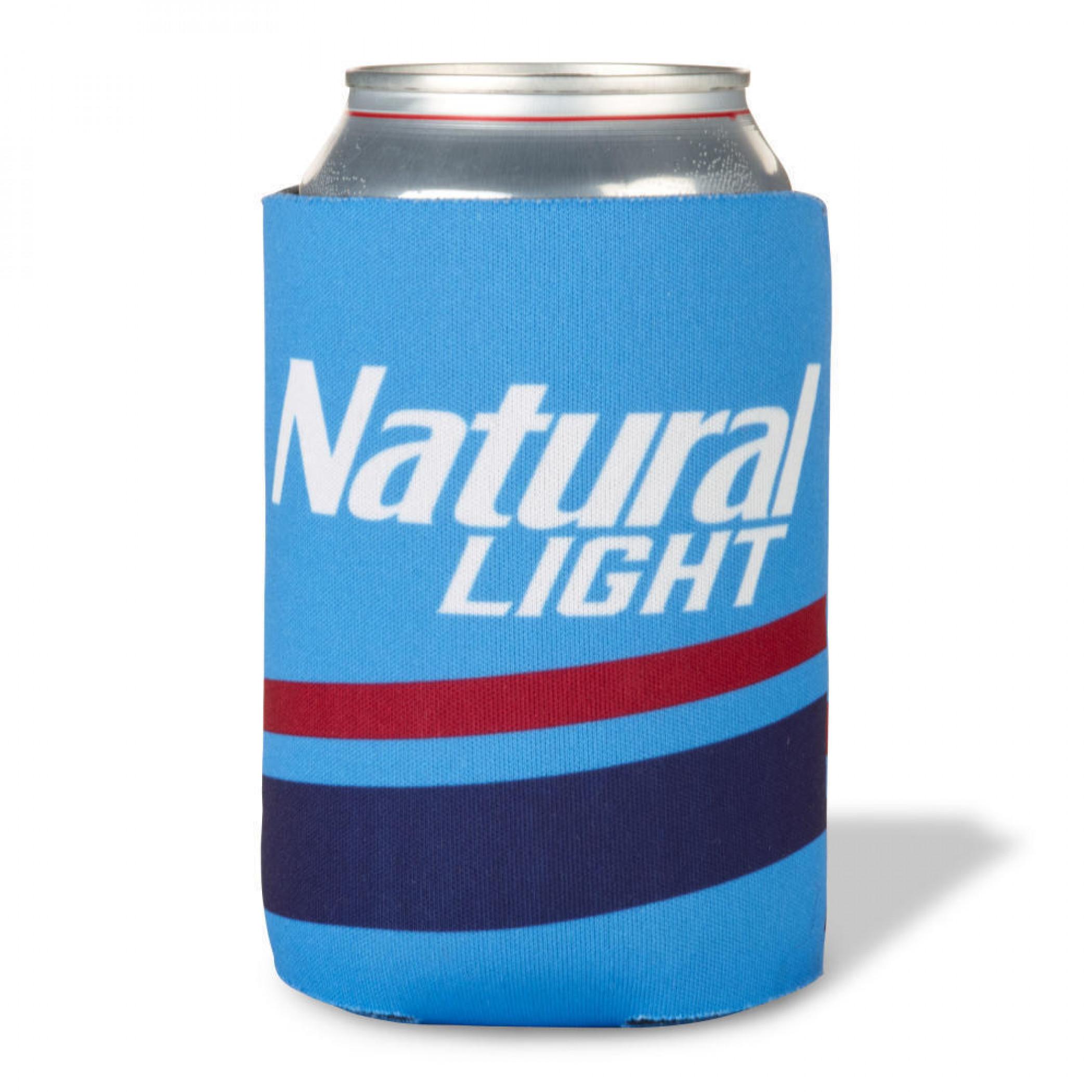 Natural Light Vintage Logo Design Can Cooler