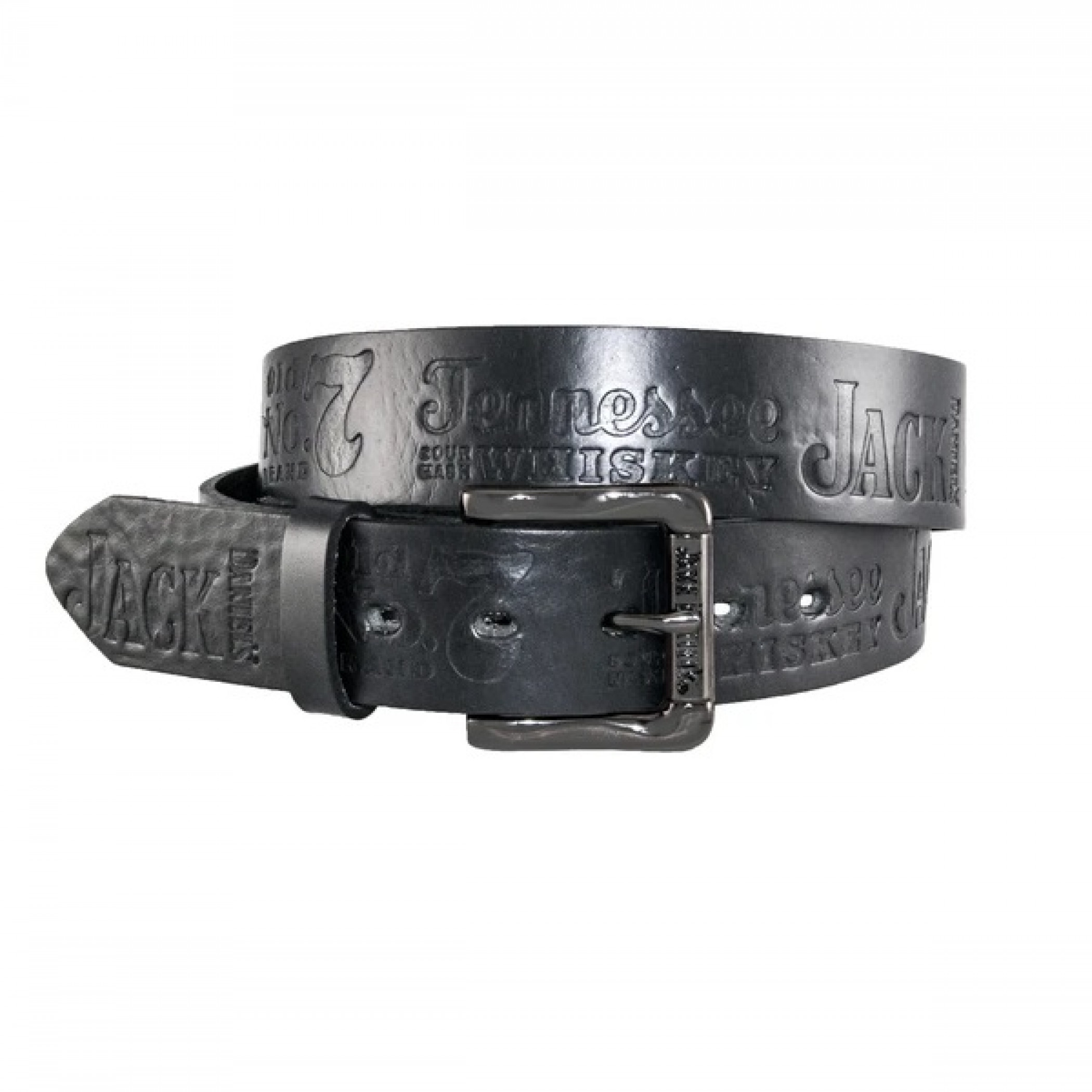 "Jack Daniel's Black Leather Embossed 1.5"" Belt"