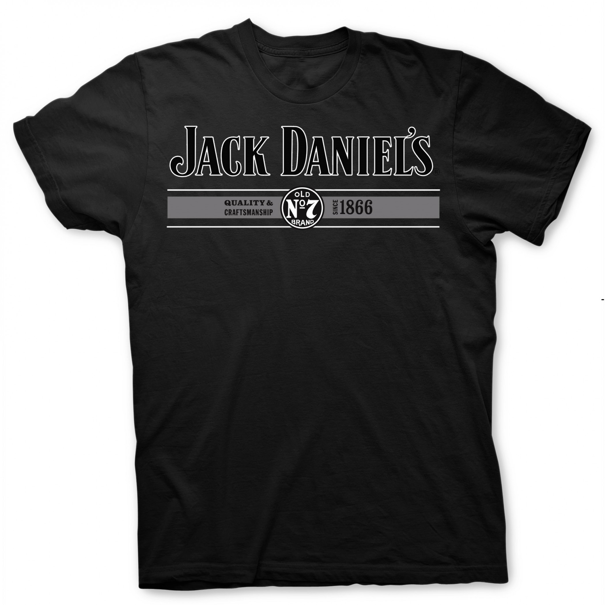 Jack Daniel's Logo Quality and Craftsmanship Since 1866 Black T-Shirt