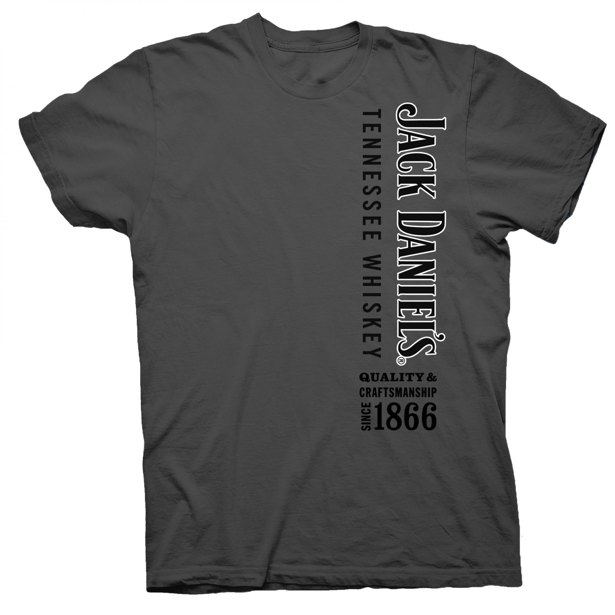 Jack Daniel's Tennessee Whiskey Quality Since 1866 Grey T-Shirt