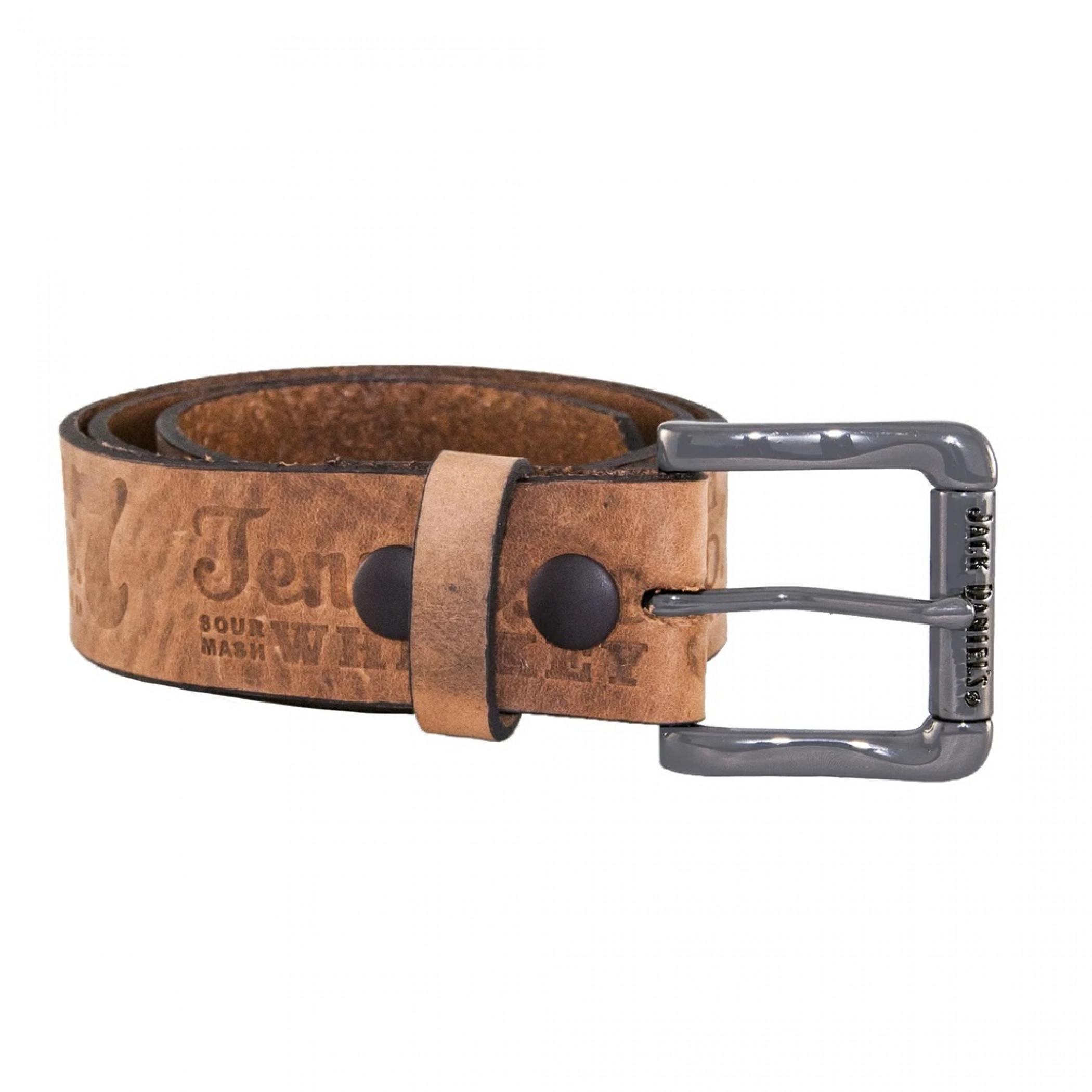 "Jack Daniel's Brown Leather Embossed 1.5"" Belt"