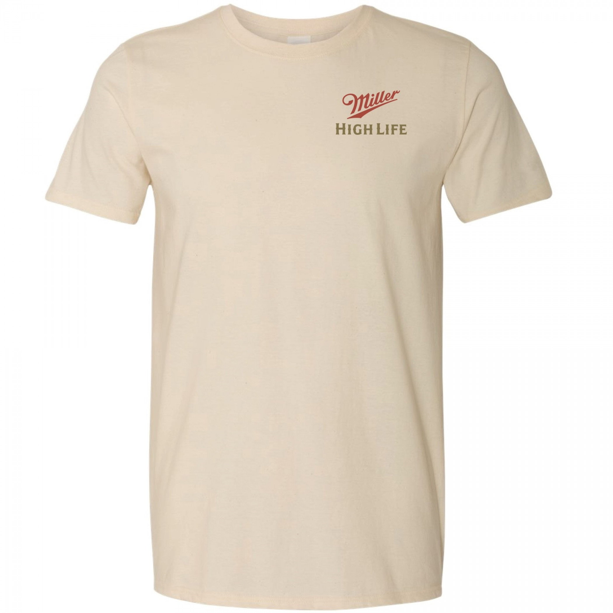 Miller High Life Champagne of Beers Front and Back Print T-Shirt