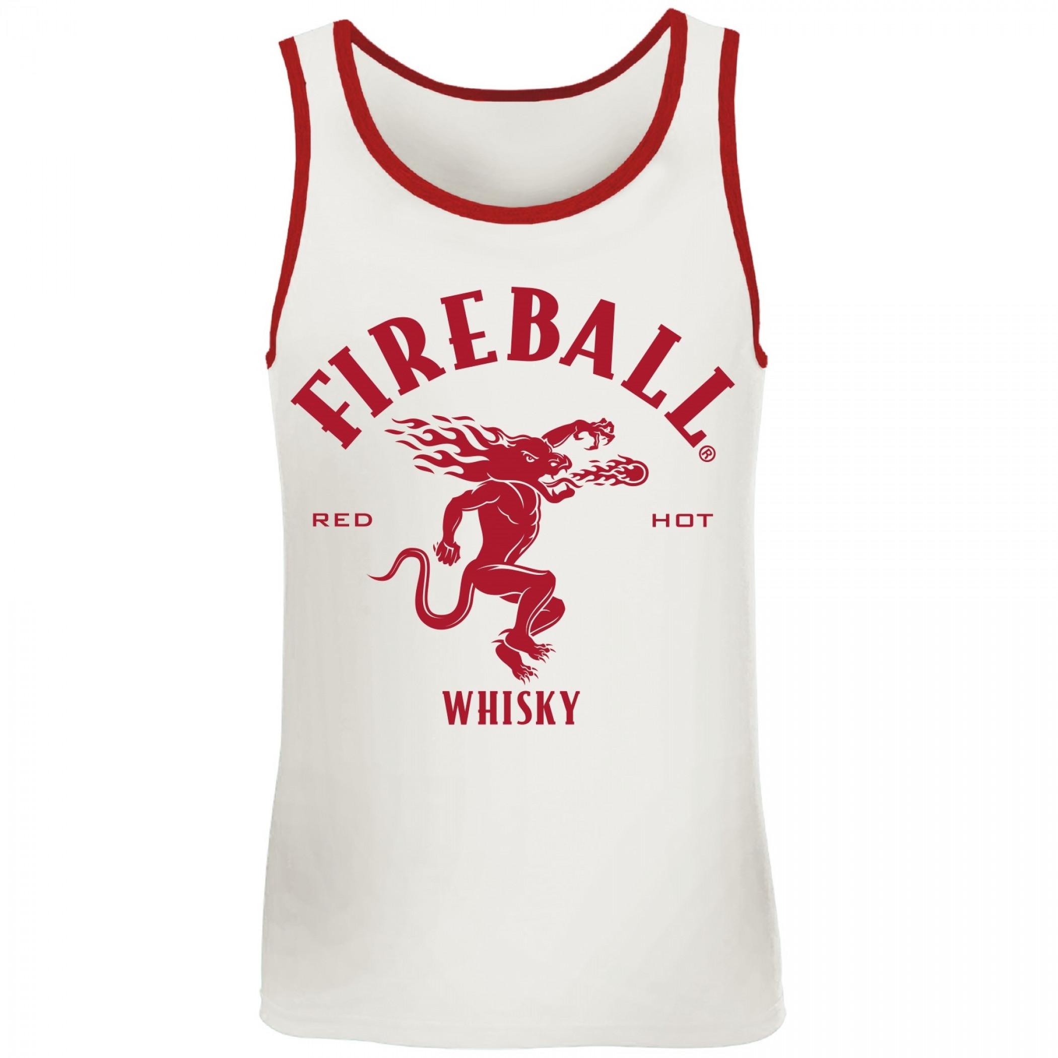 Fireball Whisky Red Trim Tank Top
