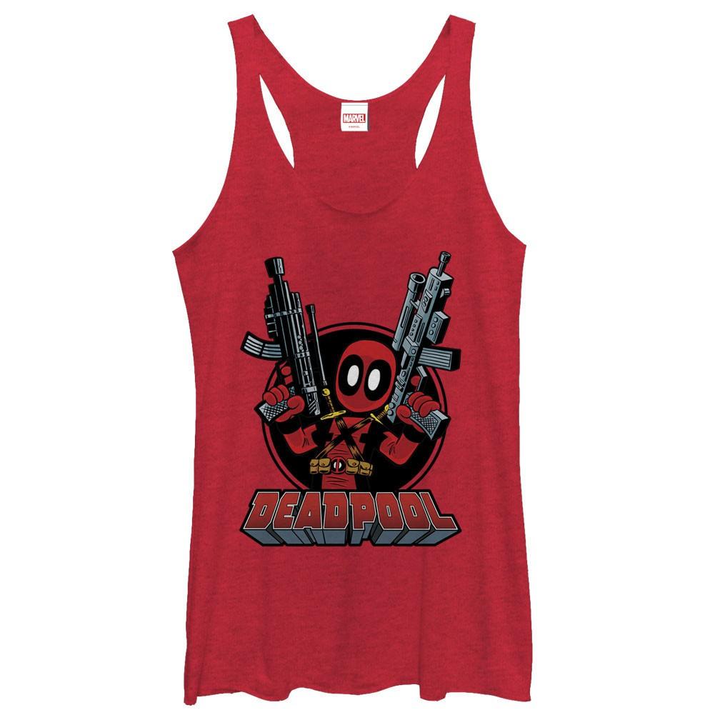 Deadpool Cute Red Juniors Tank Top