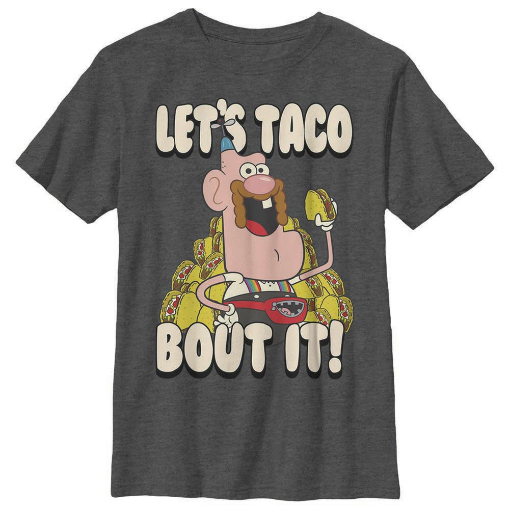 Uncle Grandpa Let's Taco About It Gray Youth T-Shirt