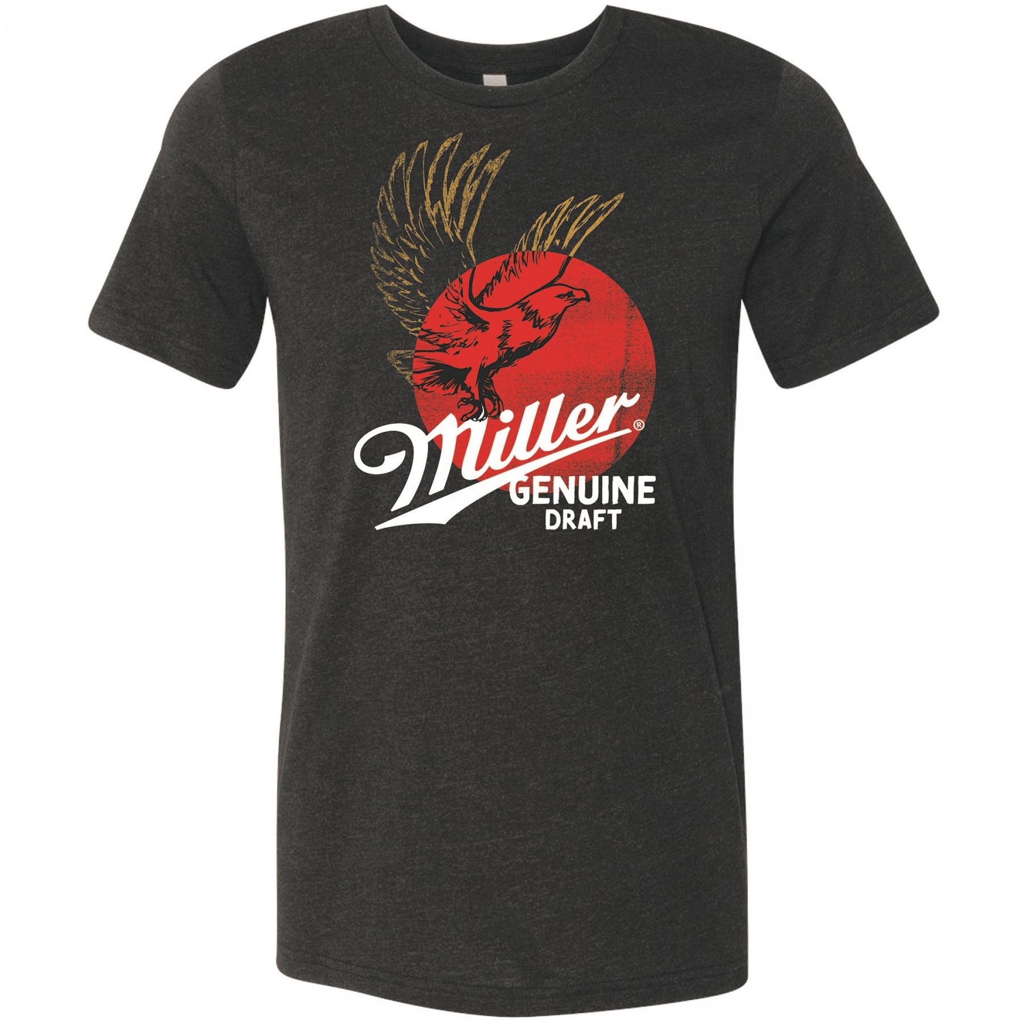 Miller Genuine Draft Eagle Can Logo T-Shirt