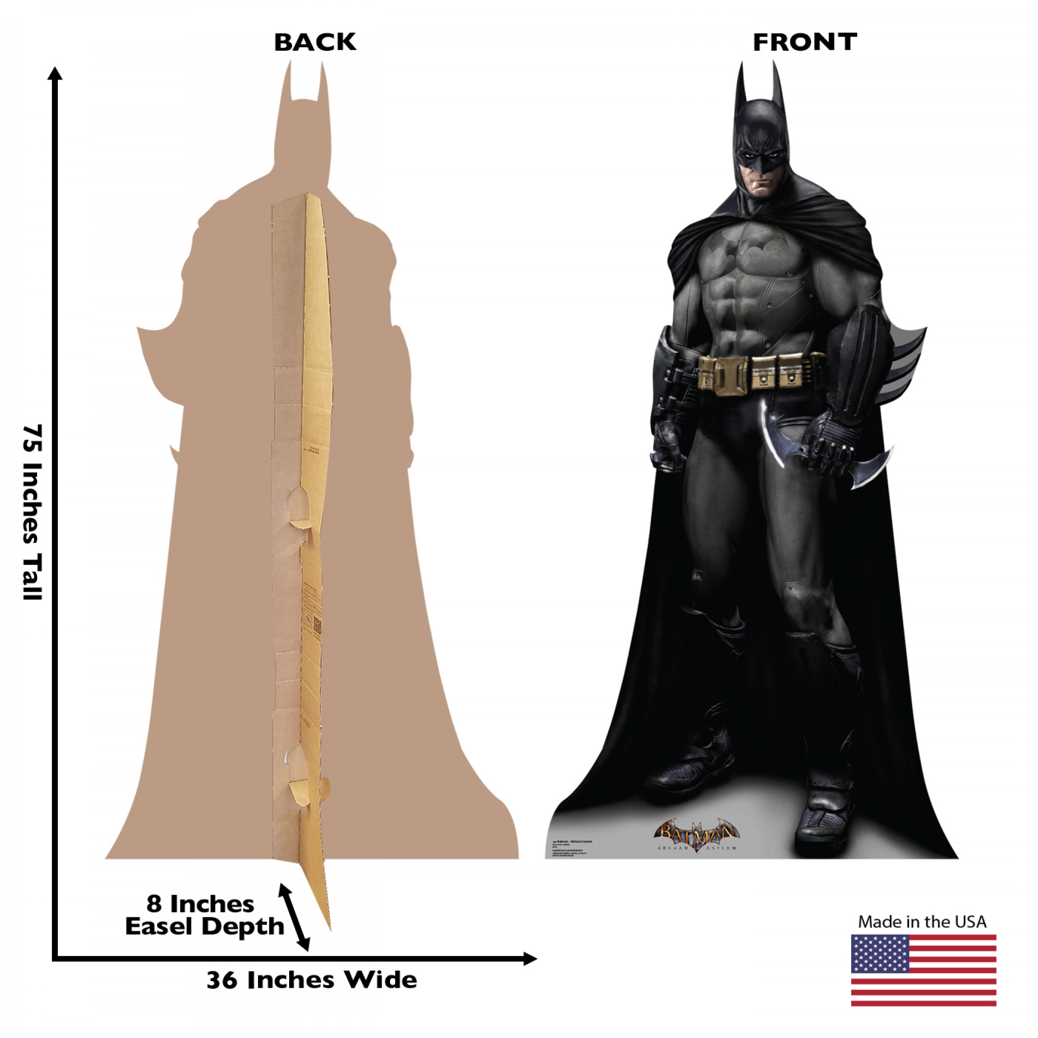 Batman Arkham Asylum Cardboard Stand Up