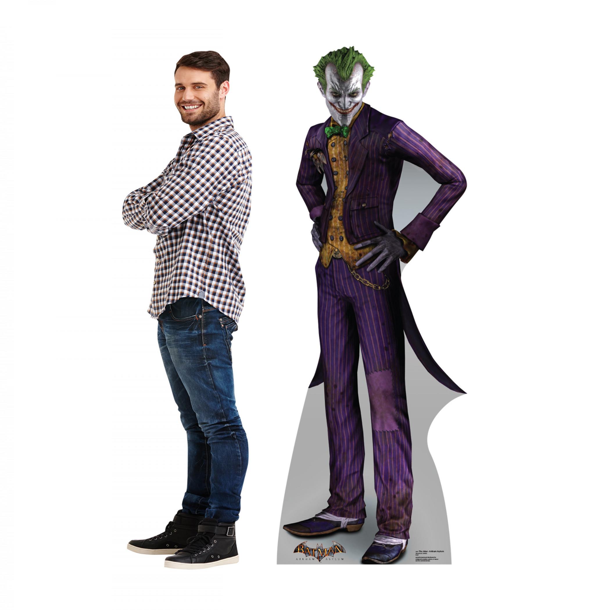 The Joker Arkham Asylum Cardboard Stand Up