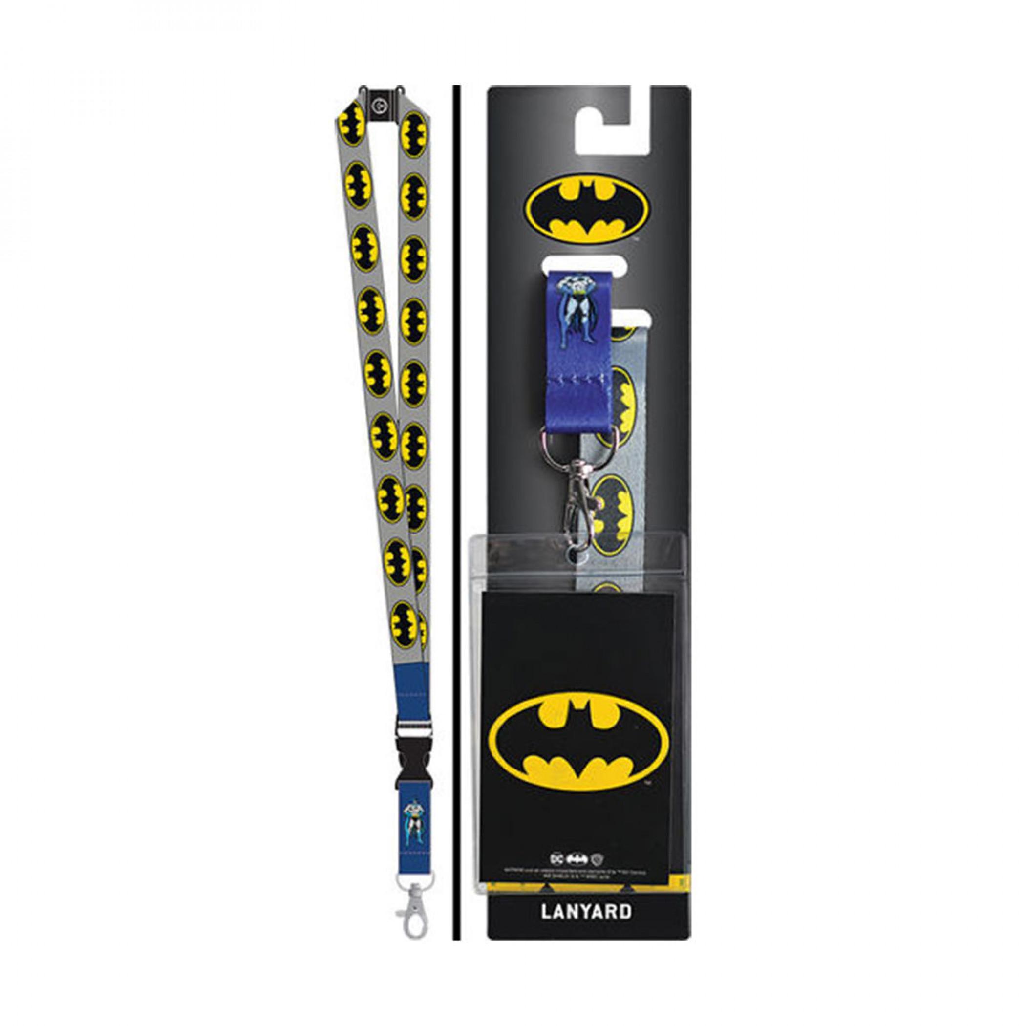 Batman Repeating Logo Lanyard