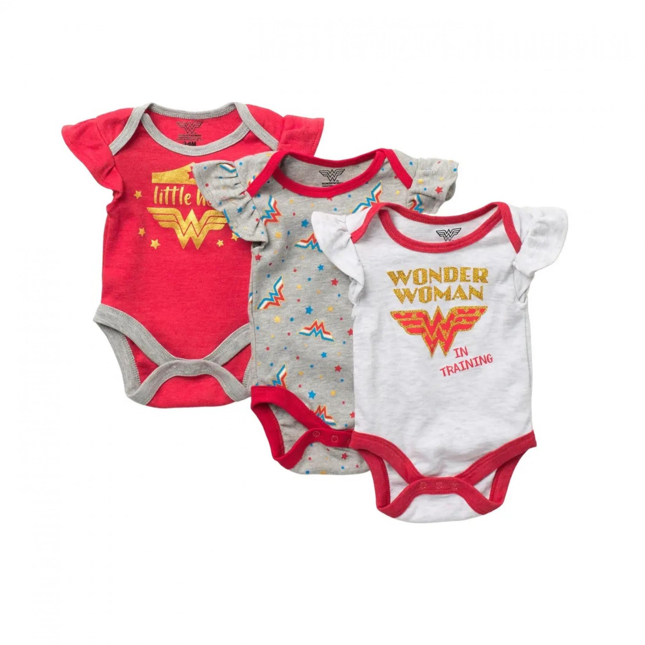 Wonder Woman 3-Pack Snapsuit Set