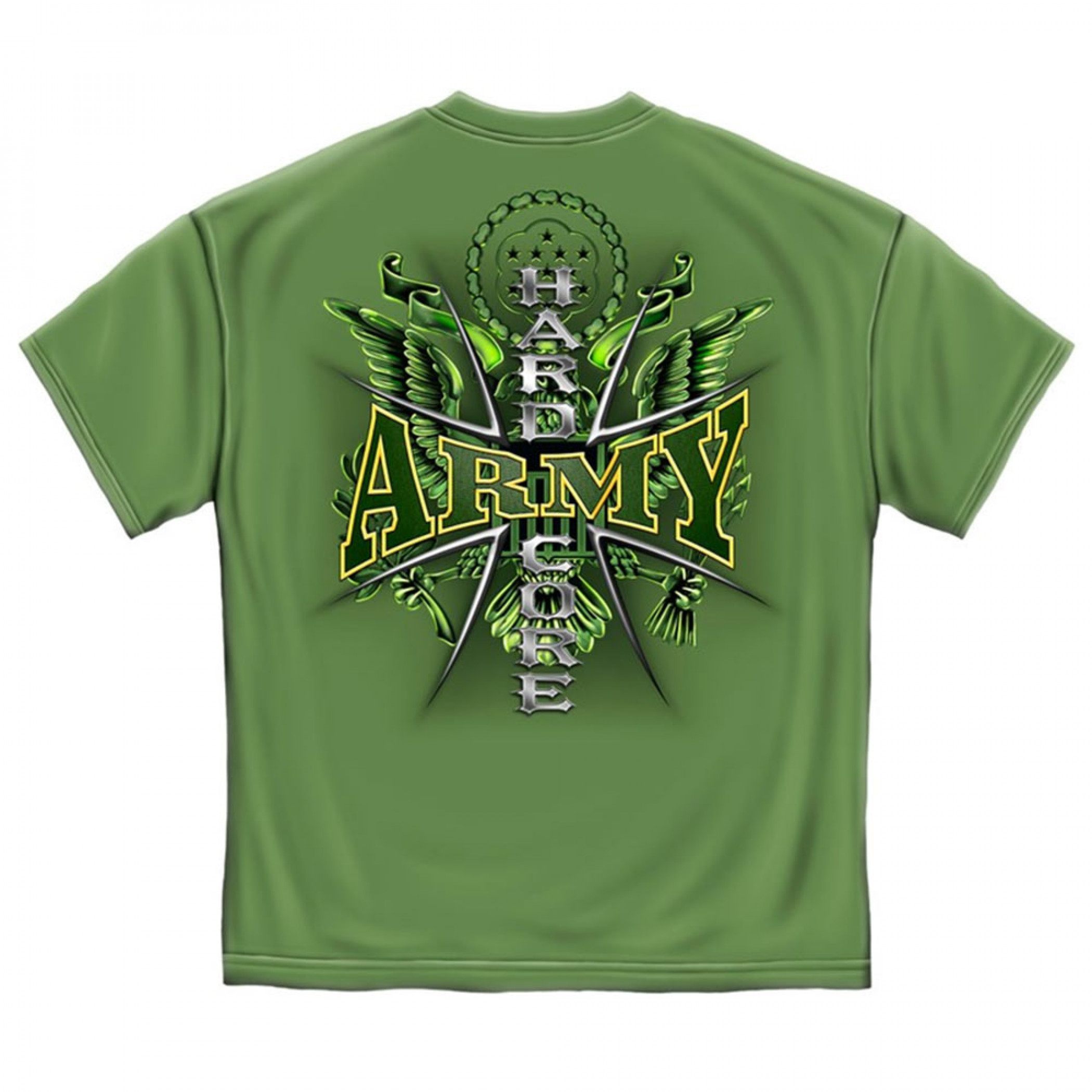 Army Hardcore Military USA Prayer Patriotic Green Graphic TShirt