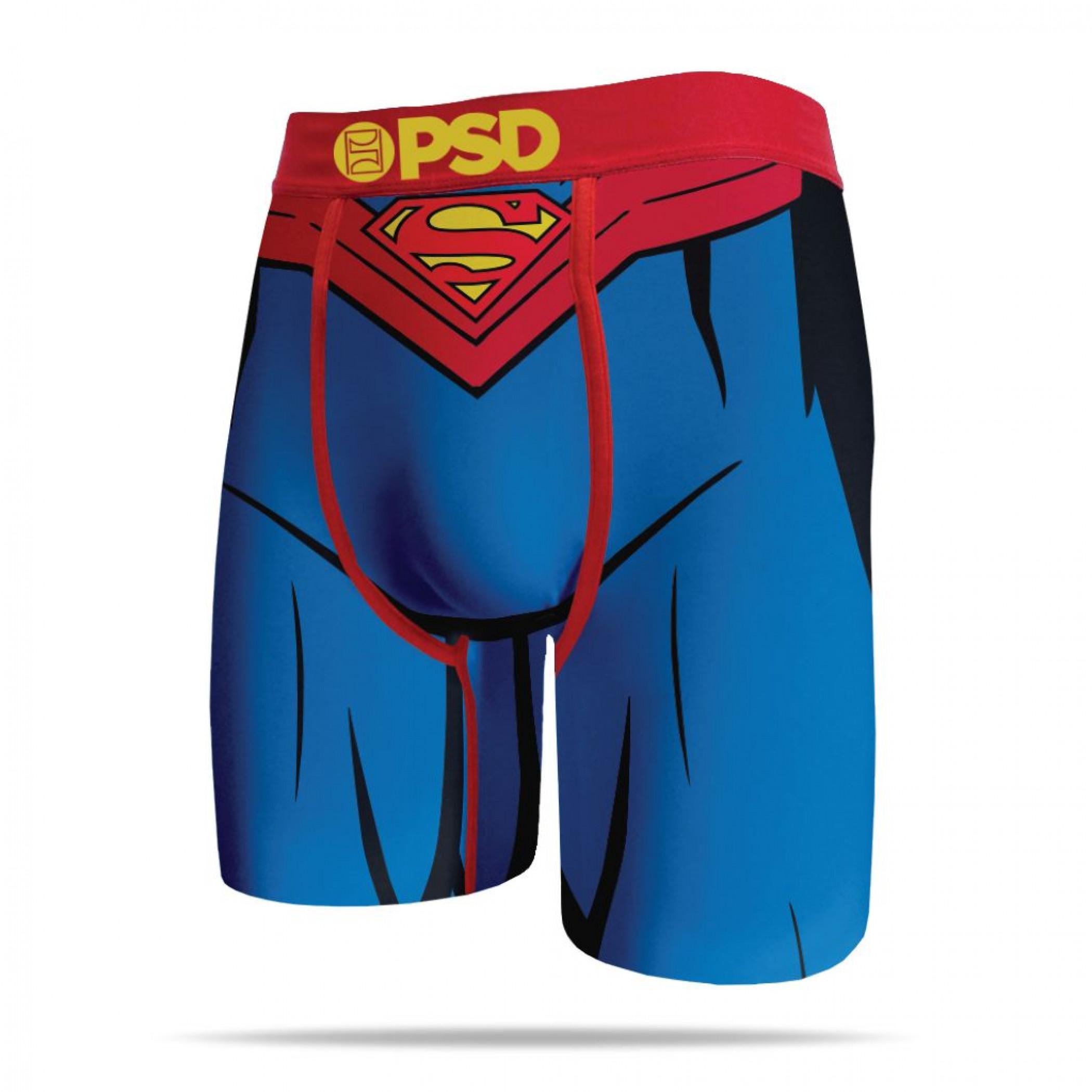 DC Comics Superman Suit Costume Men's PSD Boxer Briefs