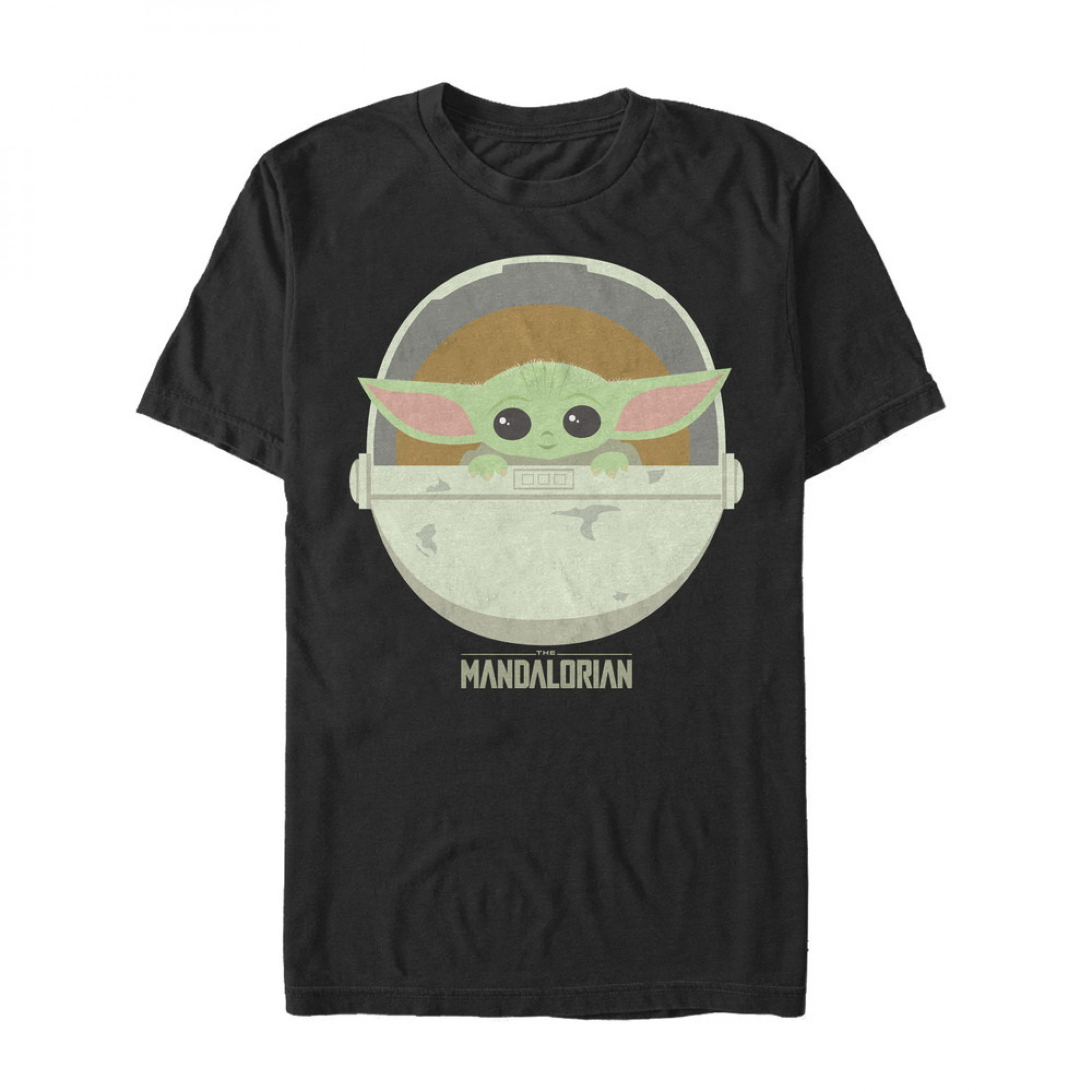 The Mandalorian Cute The Child Black T-Shirt