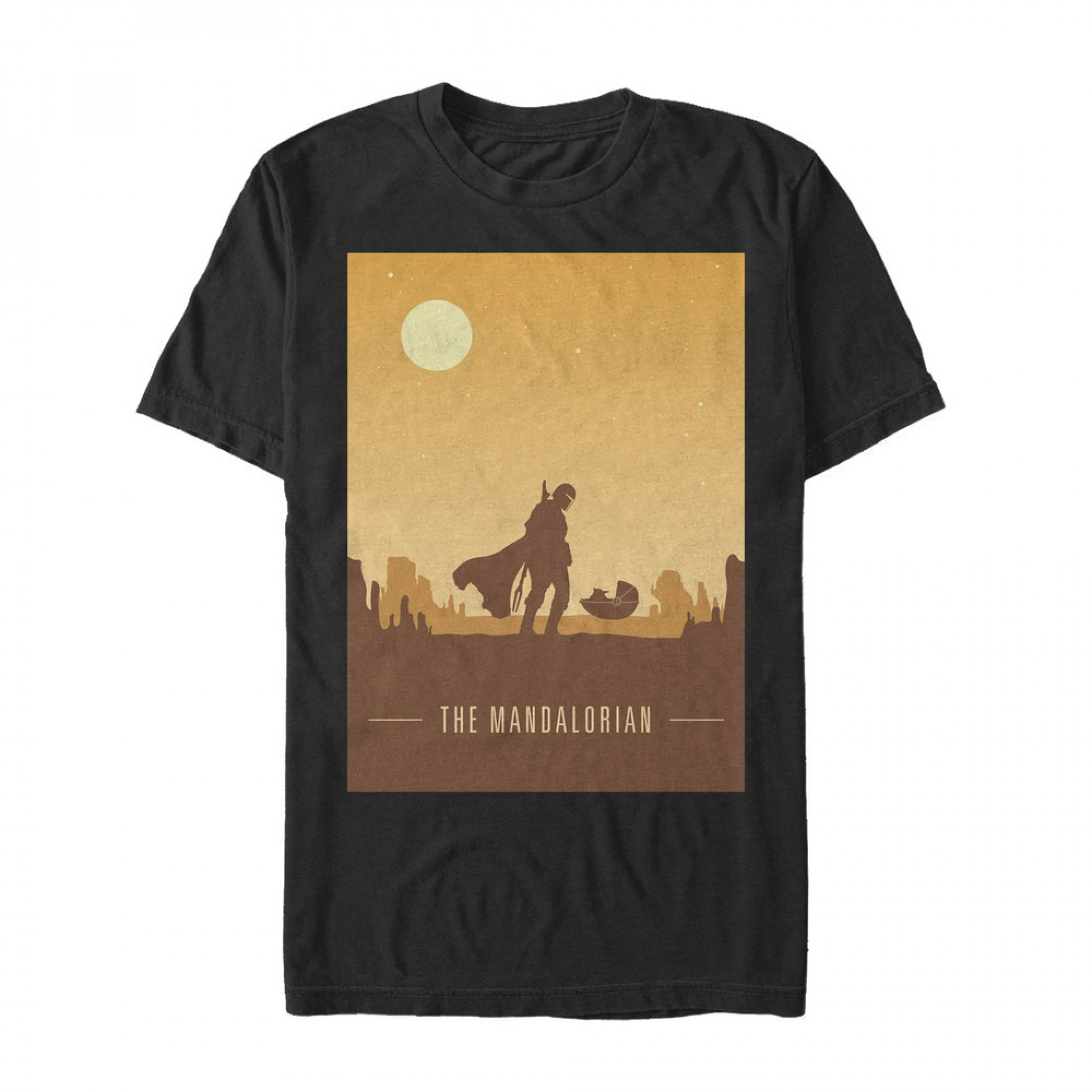 The Mandalorian Sunset The Child Black T-Shirt